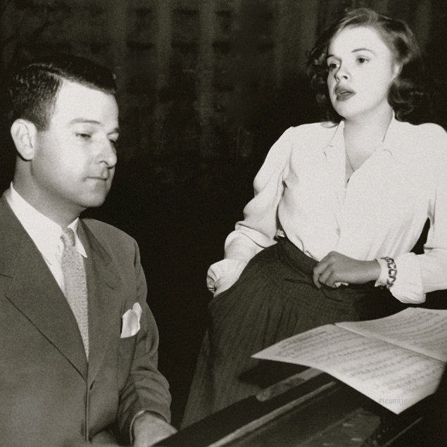 Roger Edens with Judy Garland in the 1940s.  Source:  Judy Garland Experience .