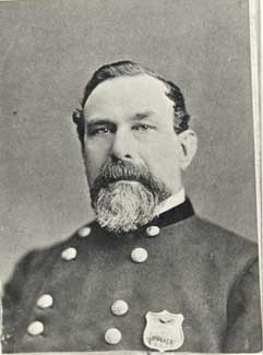 San Francisco police chief Patrick Crowley, c.1866-73.  Detail of photograph in the collection of the San Francisco Public Library.