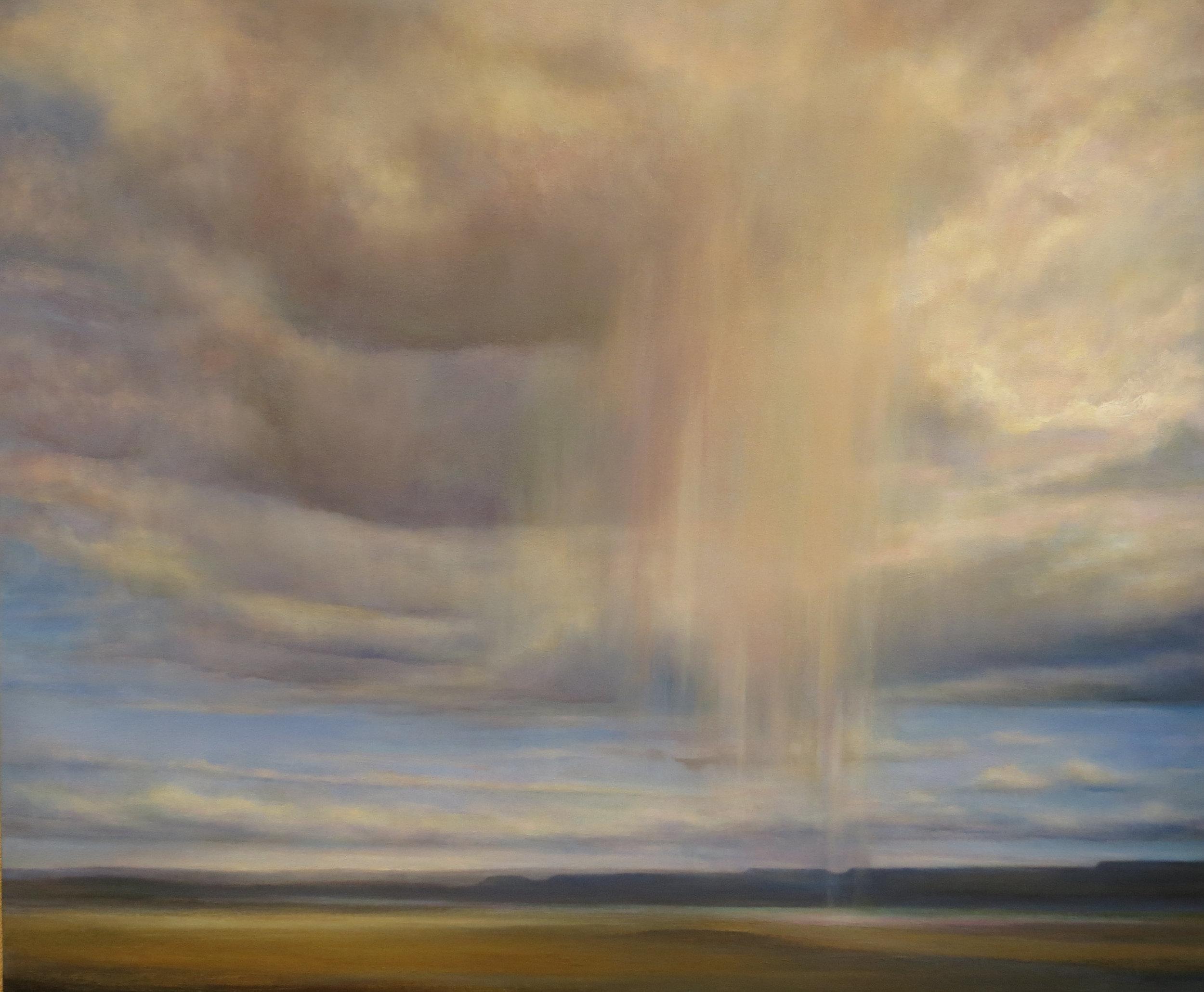 Walking Rain -- oil on canvas -- 30 x 36 -- Suzanne Wiggin -- $3900.JPG
