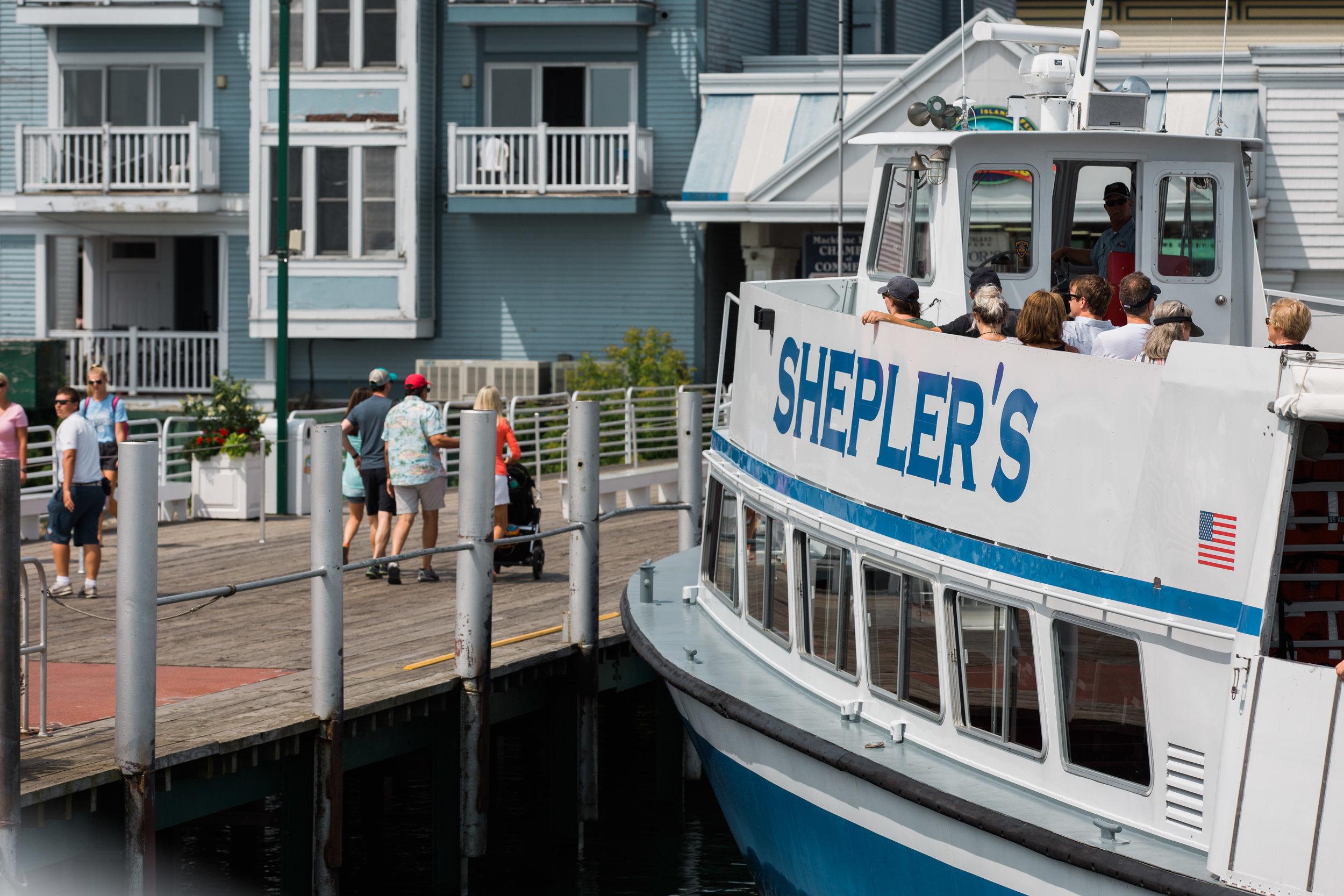 sheplers ferry mackinac