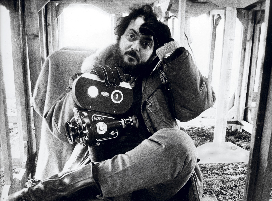 Kubrick on the set of  Full Metal Jacket