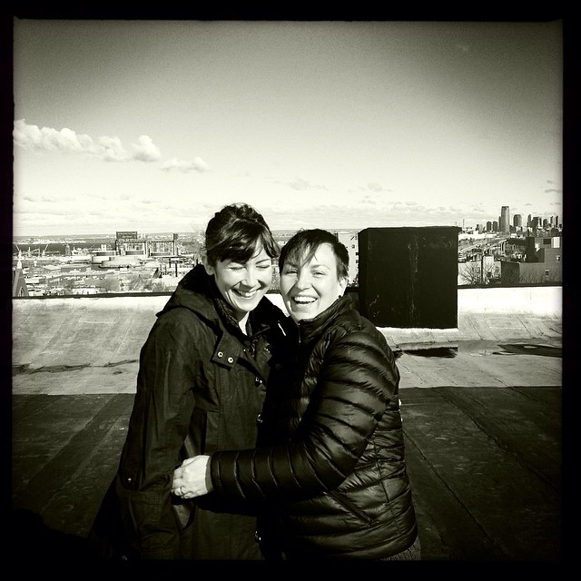 We got stuck in New York due to bad weather so we got to hang out in Brooklyn for a day with wonderful @foxlor