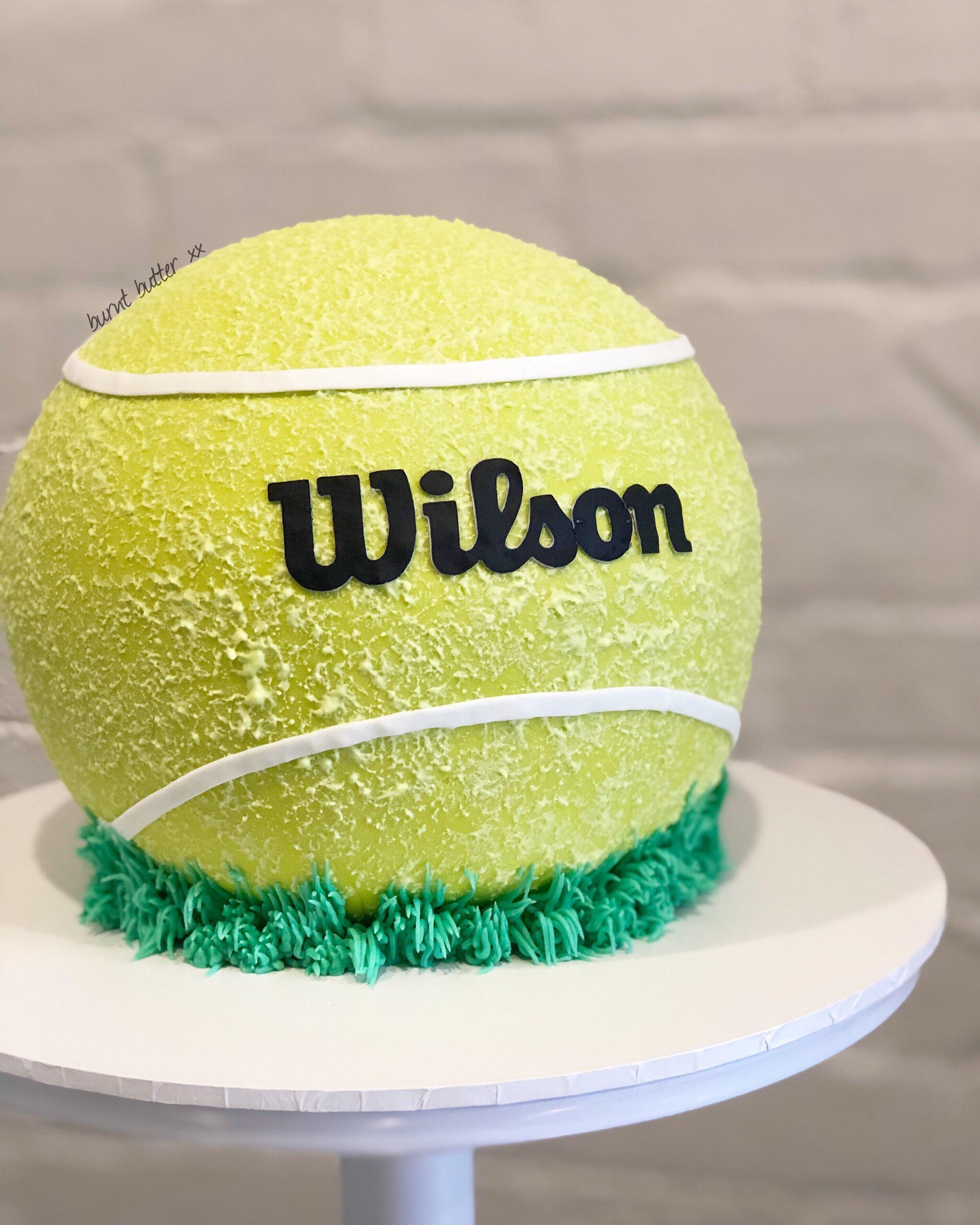 3d Tennis Ball Cake Burnt Butter Cakes