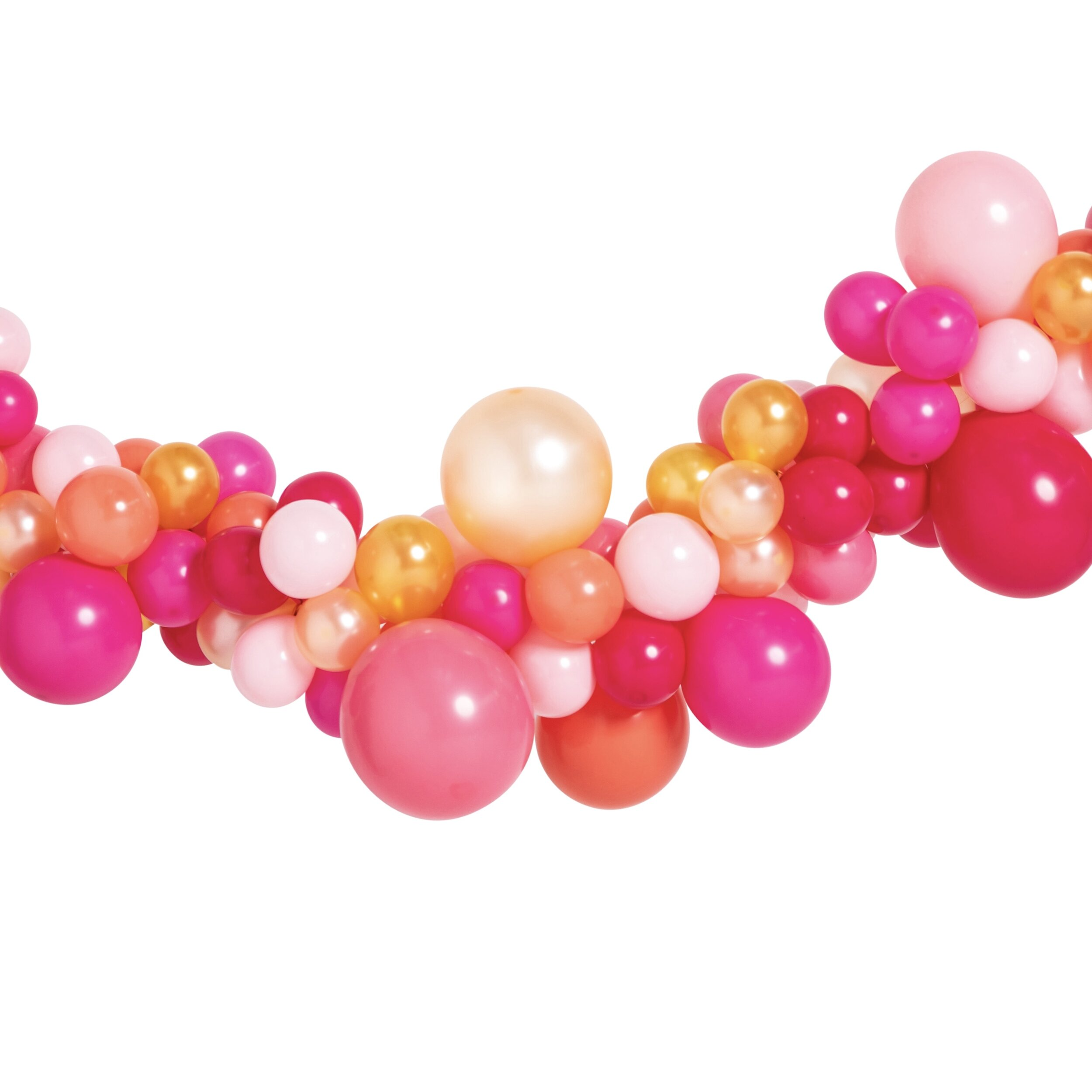 Pink Shimmer Small Balloon Garland Burnt Butter Cakes