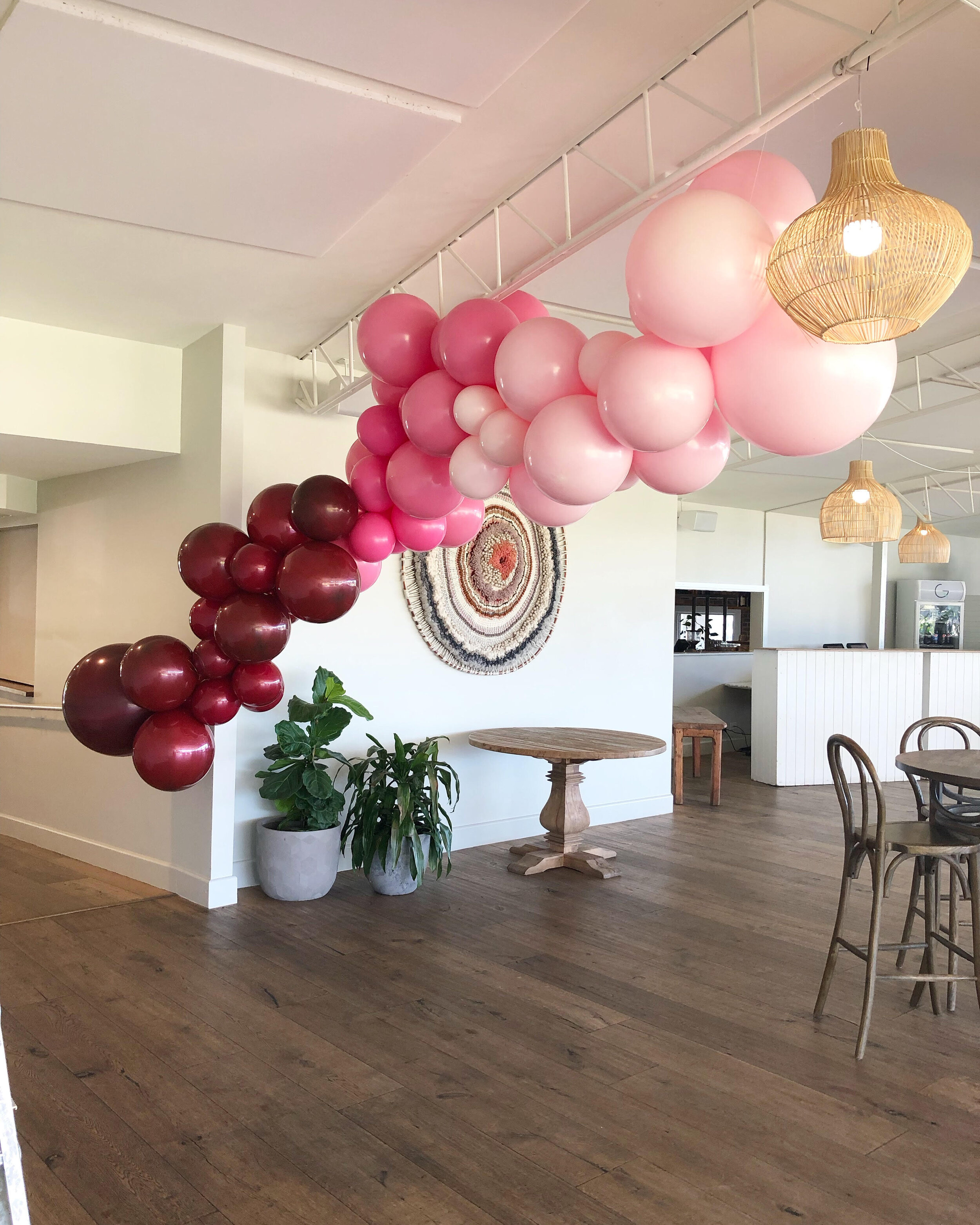 Block Colour Balloon Garland Min 2m Inflated Burnt Butter Cakes