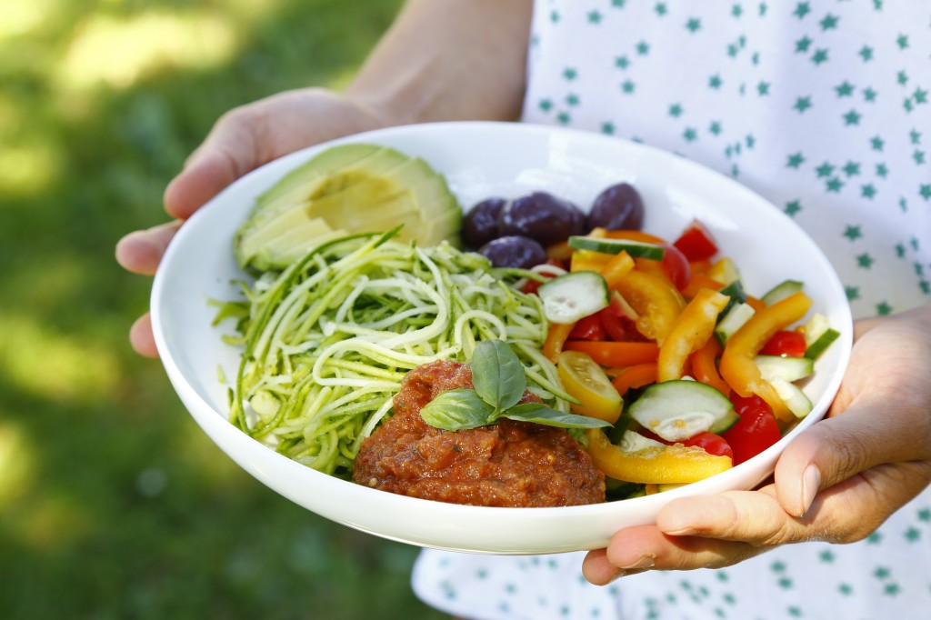 Foto:http://www.delscookingtwist.com/fr/2014/09/03/raw-courgette-spaghetti-bowl-guest-post-by-food-moods/