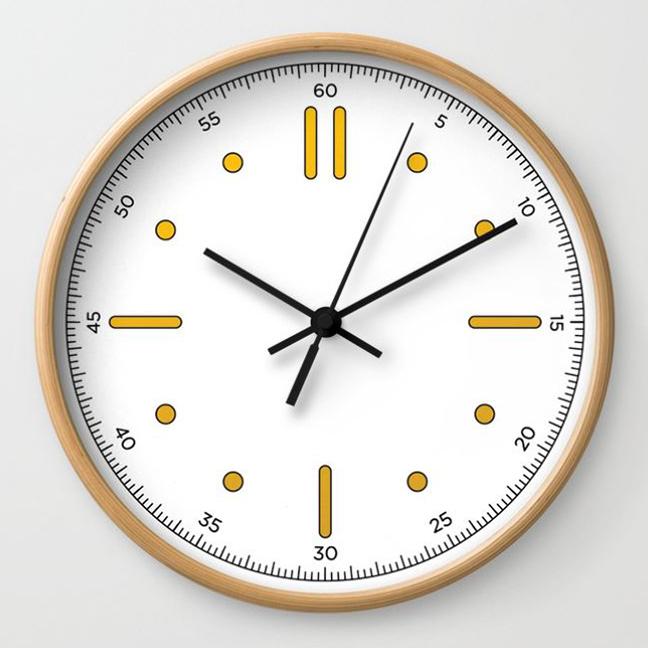 wall clock daniele tottle nautilo white
