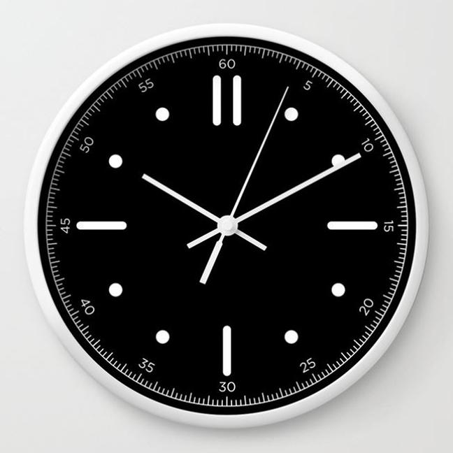 wall clock daniele tottle Nautilo black white.jpg