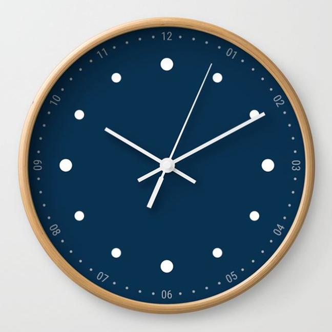 wall clock daniele tottle Preciso blue.jpg