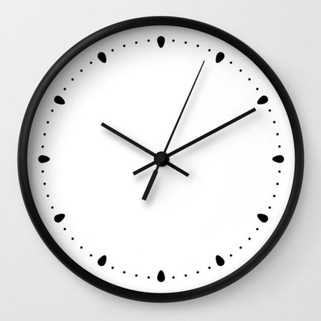 wall clock daniele tottle Gocce white.jpg