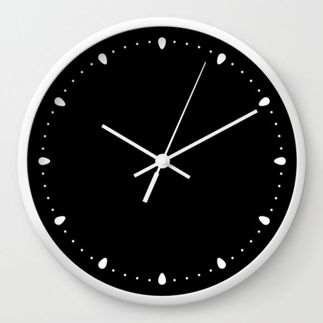 wall clock daniele tottle gocce black