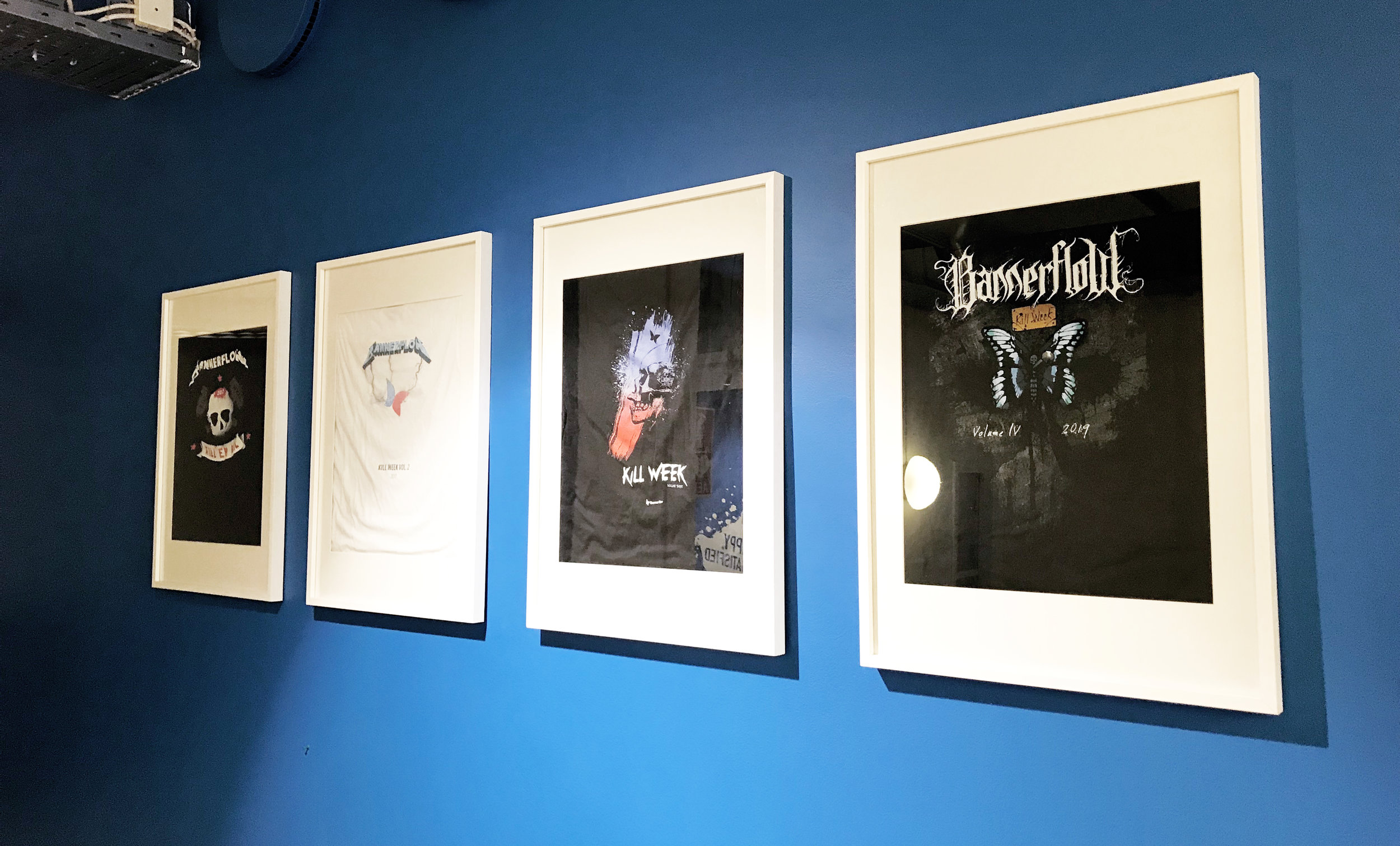 """The t-shirt was framed and added to the """"gallery"""" together with the ones from the previous years."""