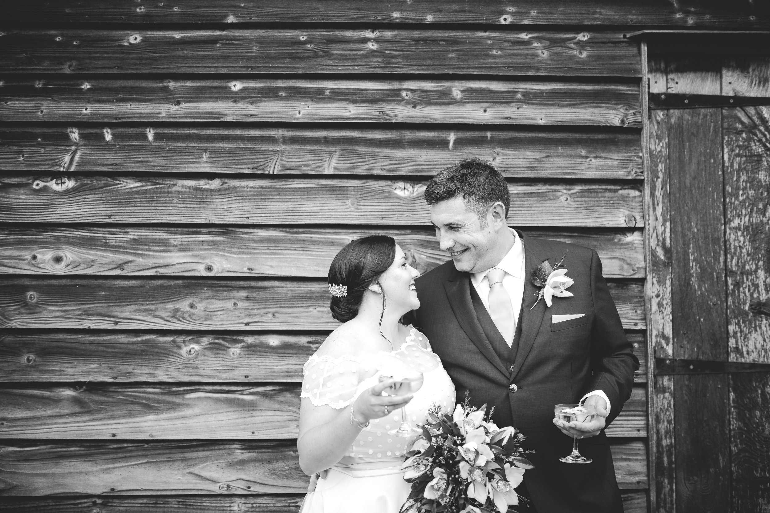 Gorgeous couple intimate moment at Bassmead Manor modern and alternative wedding