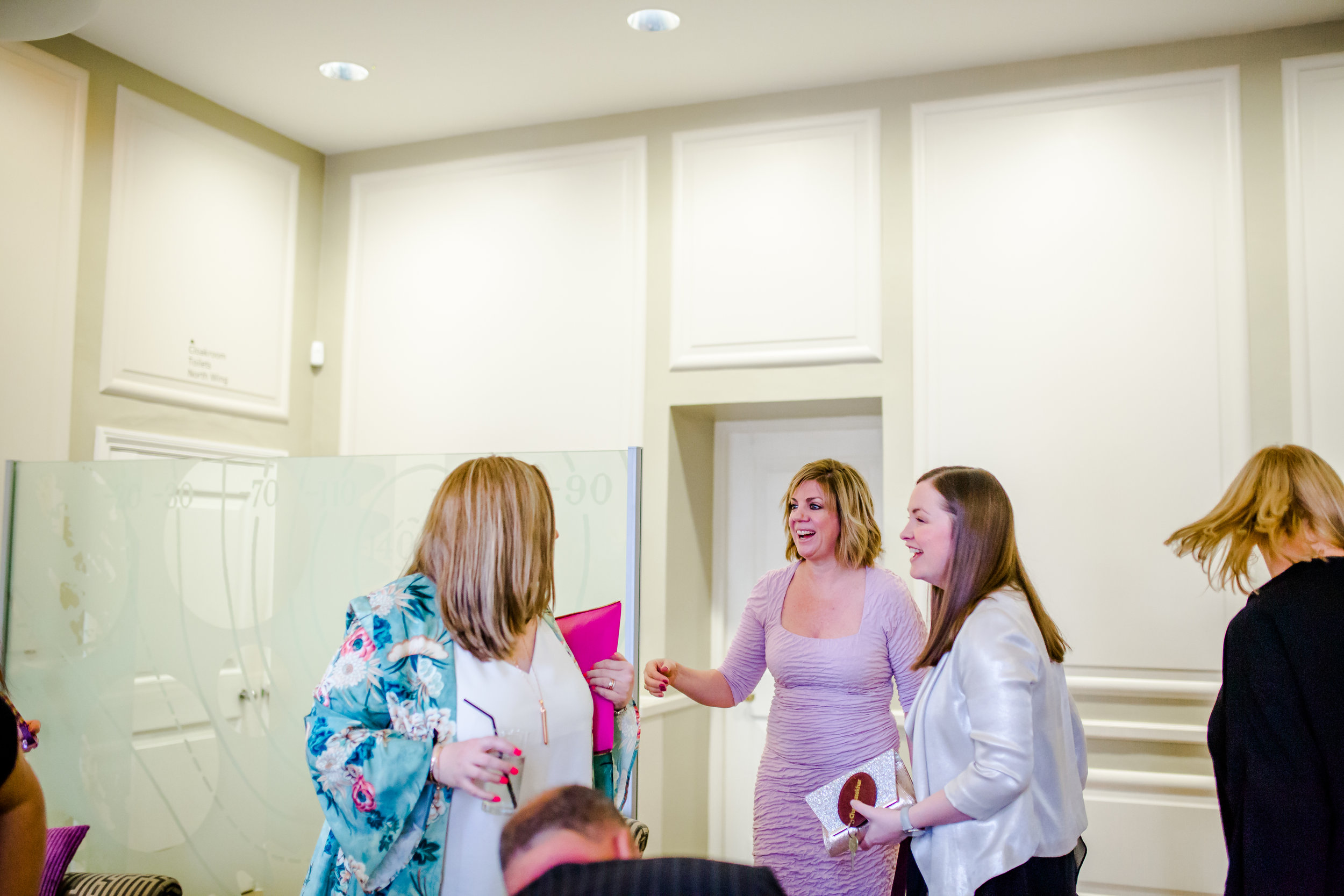 Introductions all round. Siobhan Craven-Robins , luxury wedding coordinator, meet Vanessa of luxury wedding coordinator  Rocks and Frocks and Nadia Wood of luxury wedding coordinators  Amulet Wedding and Events . See a theme here?