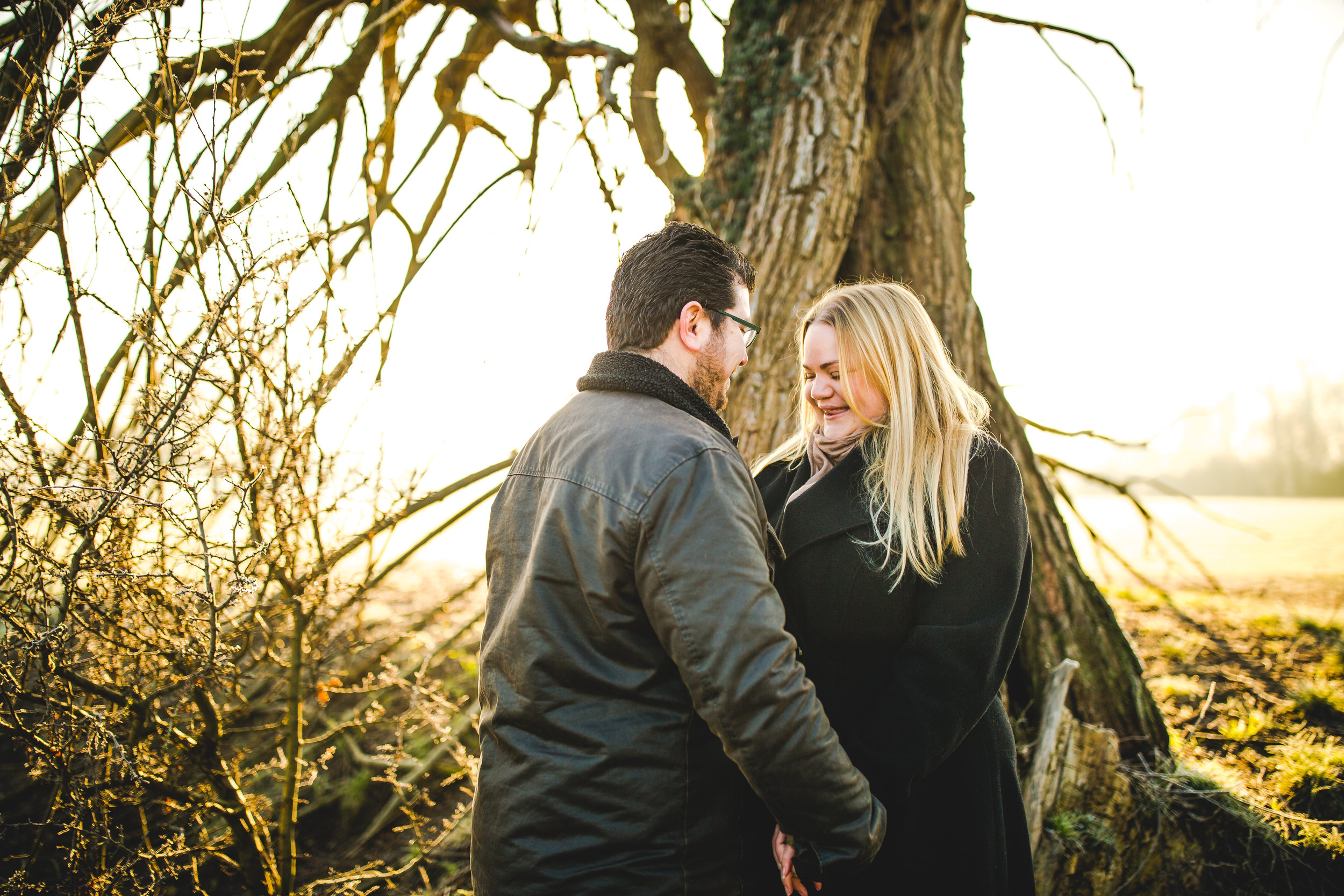 Beautiful early morning pre-wedding shoot at Grantchester Meadows, Cambridge