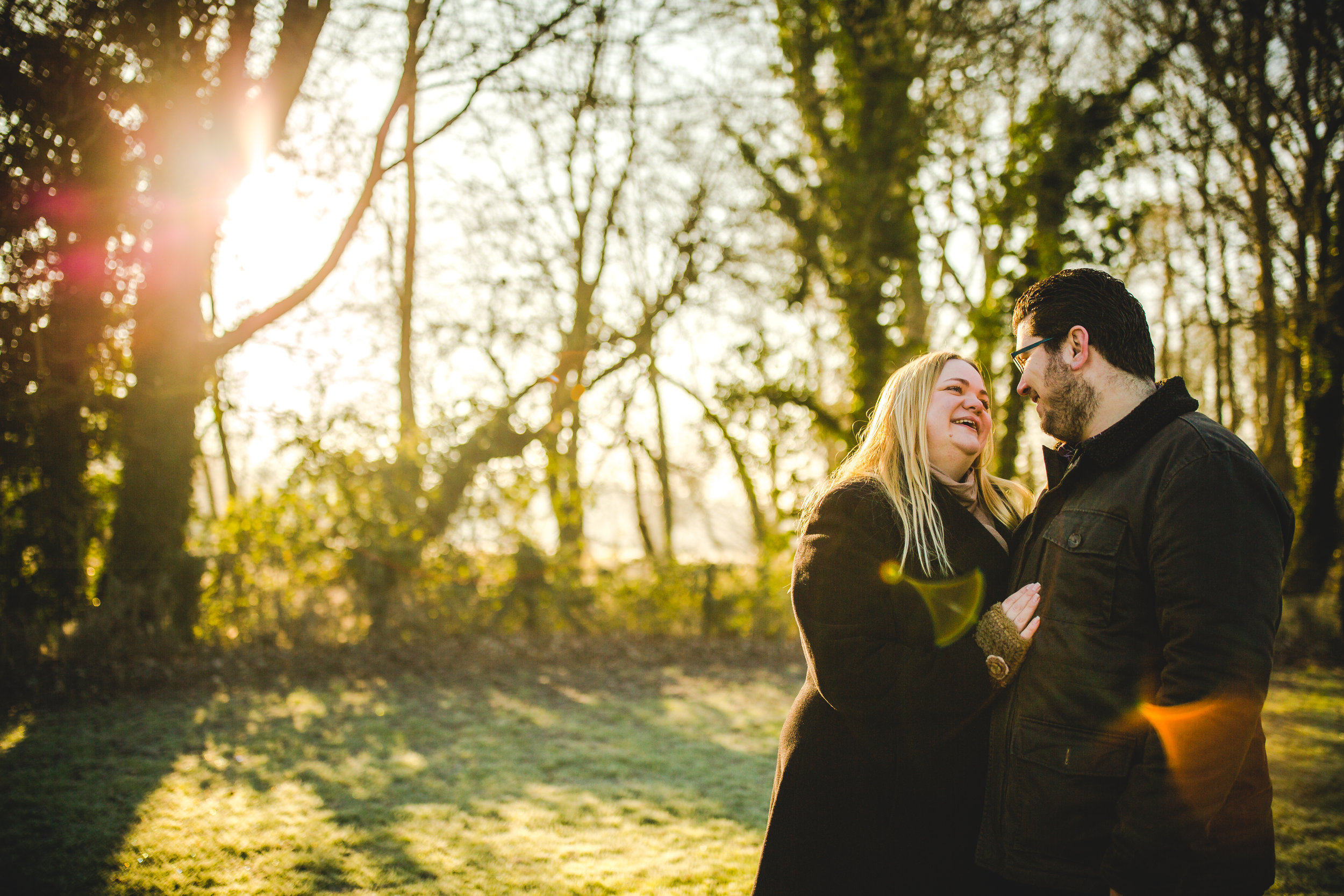 Wonderful light for this Grantchester Meadows pre-wedding shoot