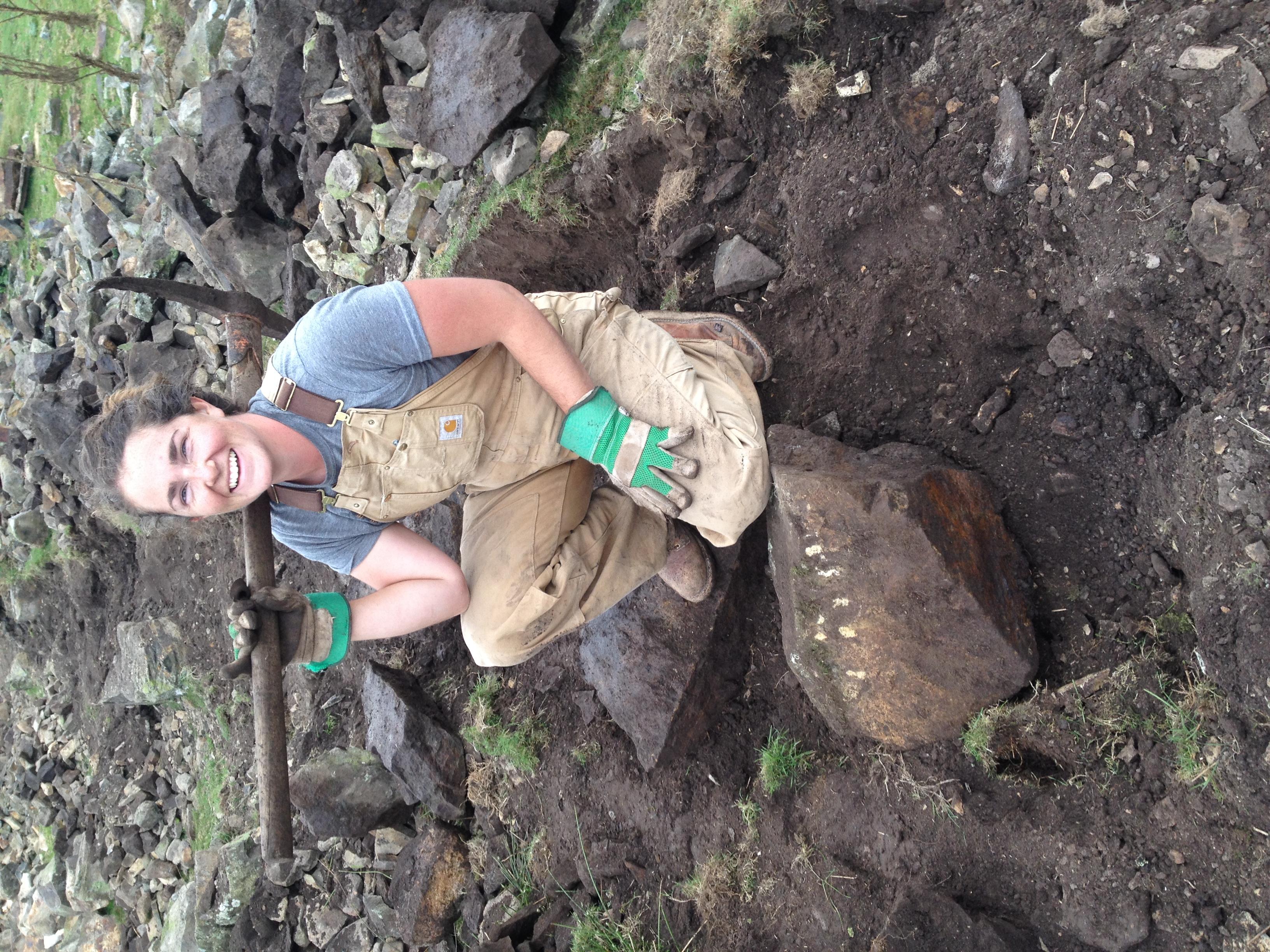 With stones heavier than I am,near Howey, Wales, 2014