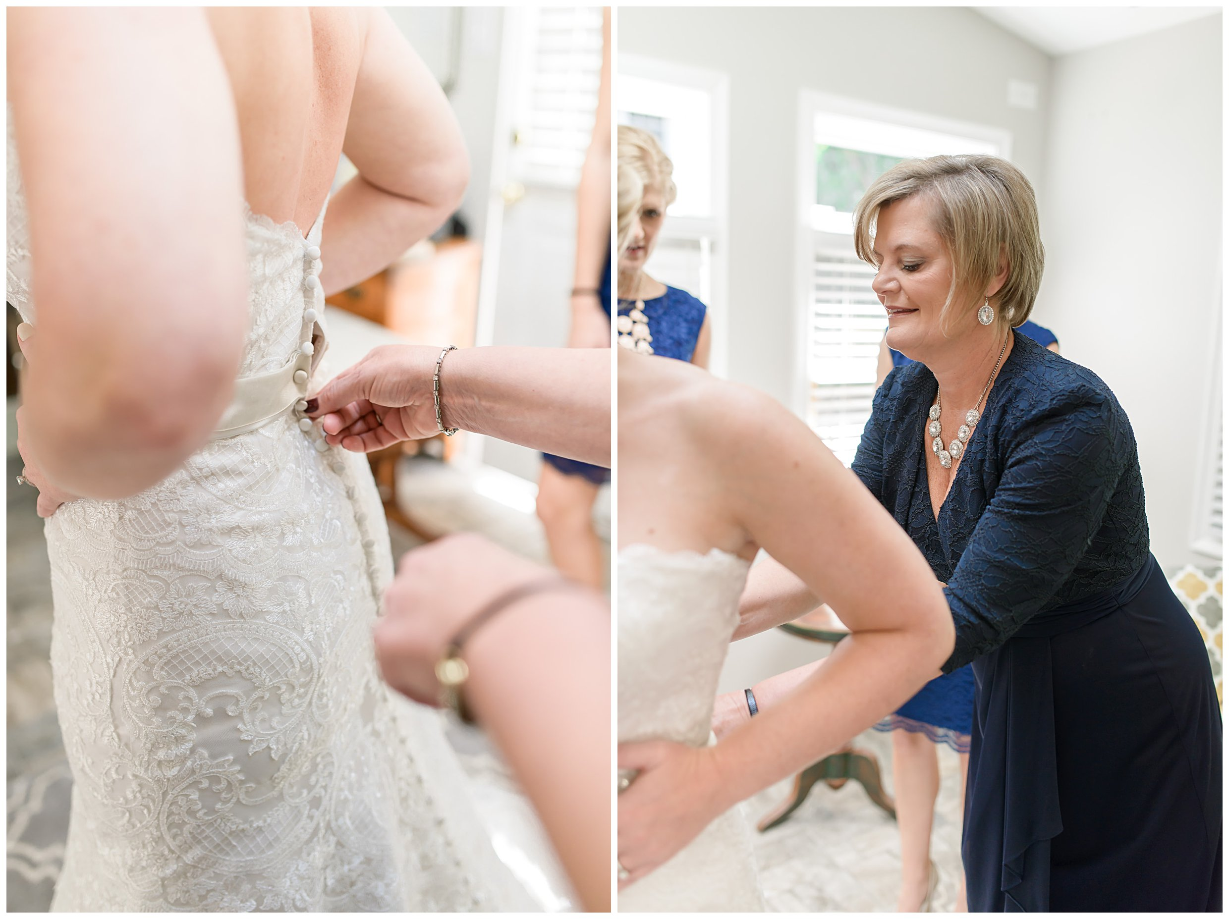 Getting ready details blush pink light green lace gown classic navy blue Charleston South Carolina Wedding Photograpgher Stephanie Kopf Photography eco wedding green environmentally friendly-78.jpg