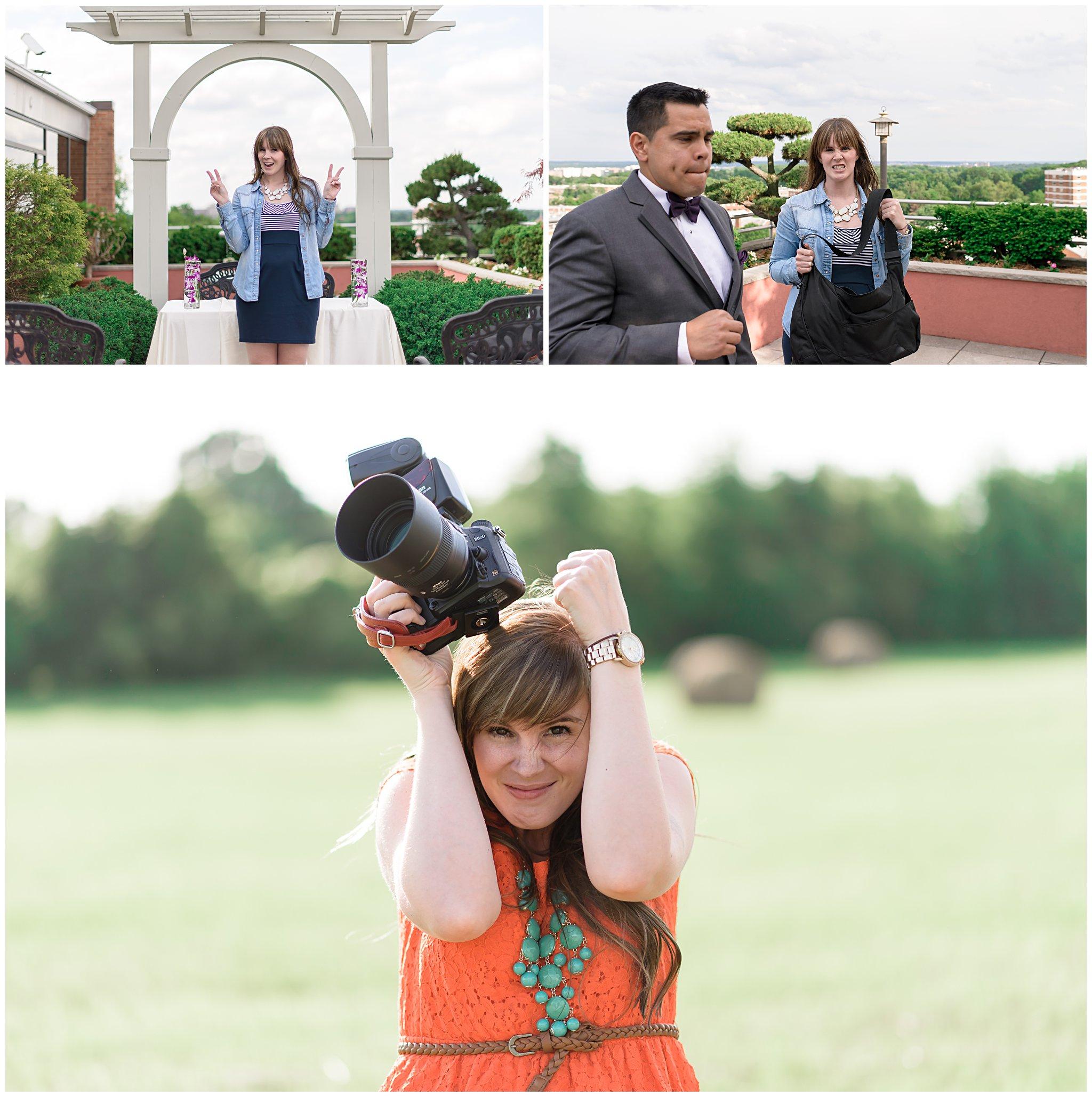 behind the scenes wedding photographer