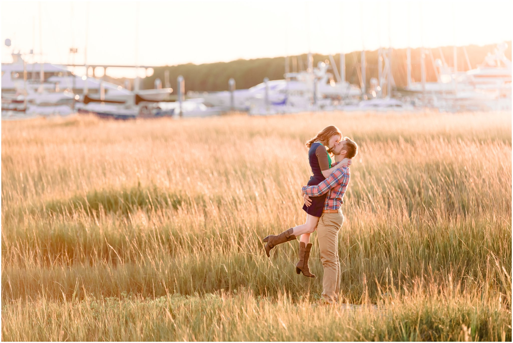 Sunset in Charleston SC, Engagement Photography
