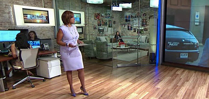 Gayle King, CBS This Morning, wearing my Pale Lavender dress.