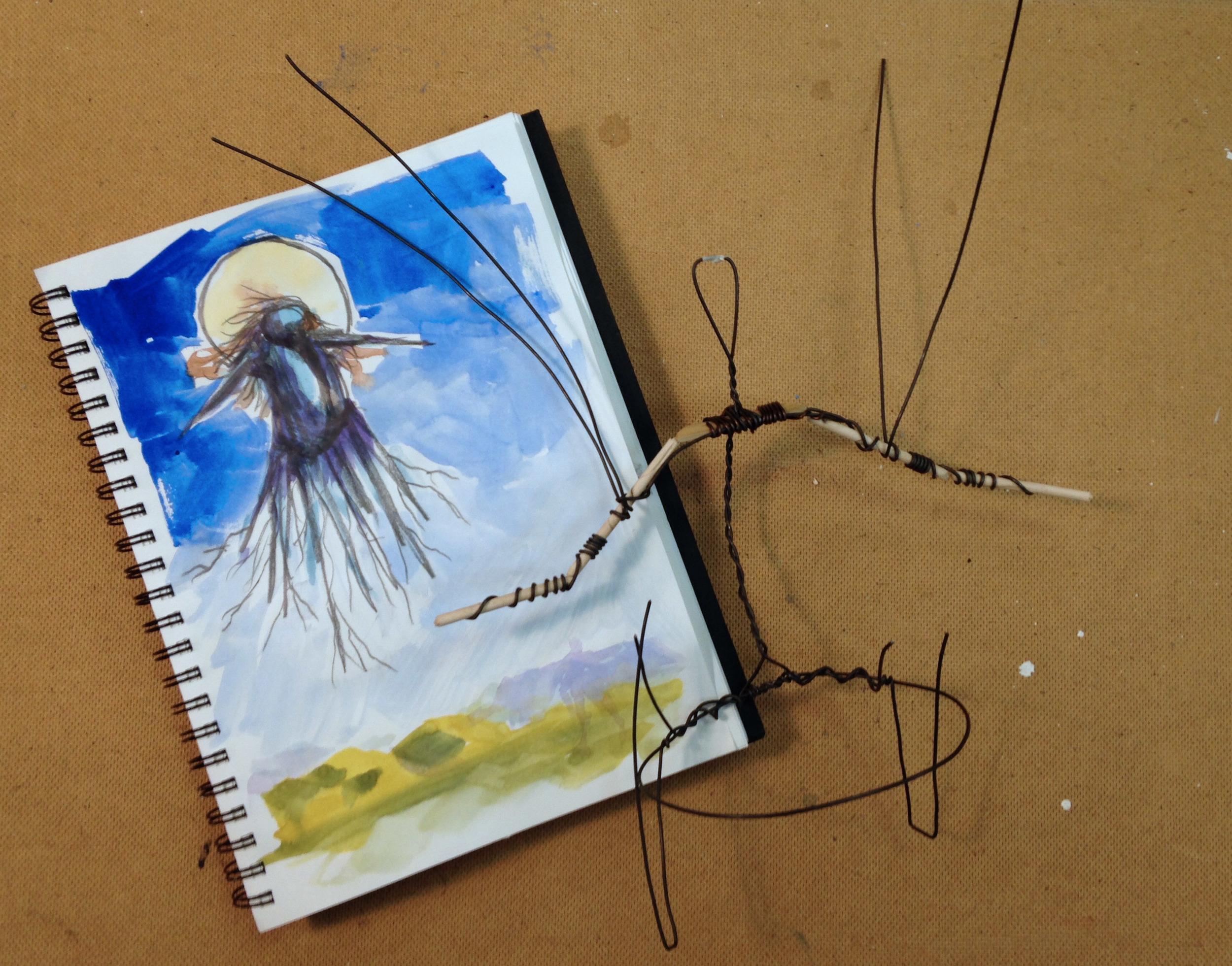 Wire armature begins