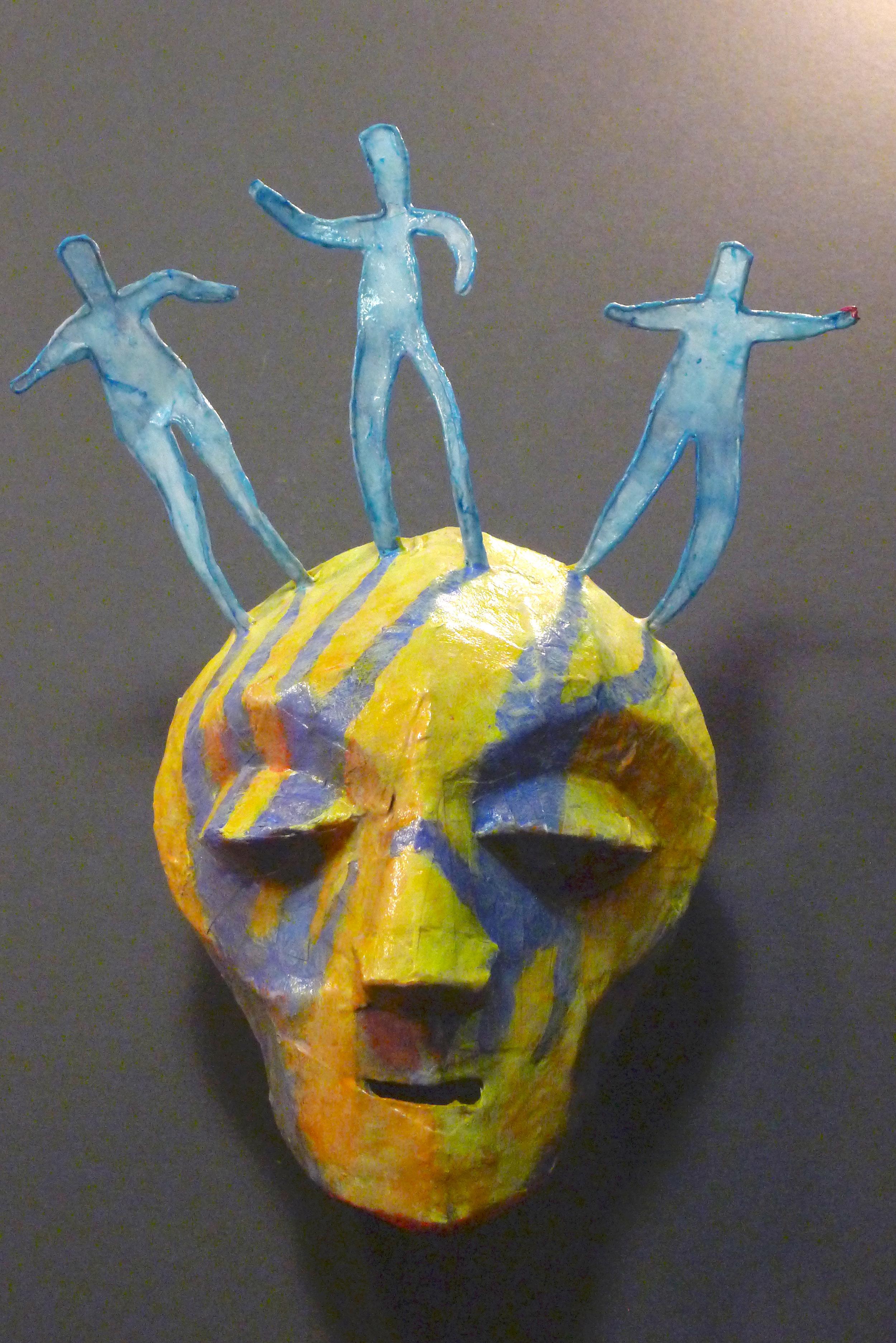 My Three Shadows - Mixed media mask