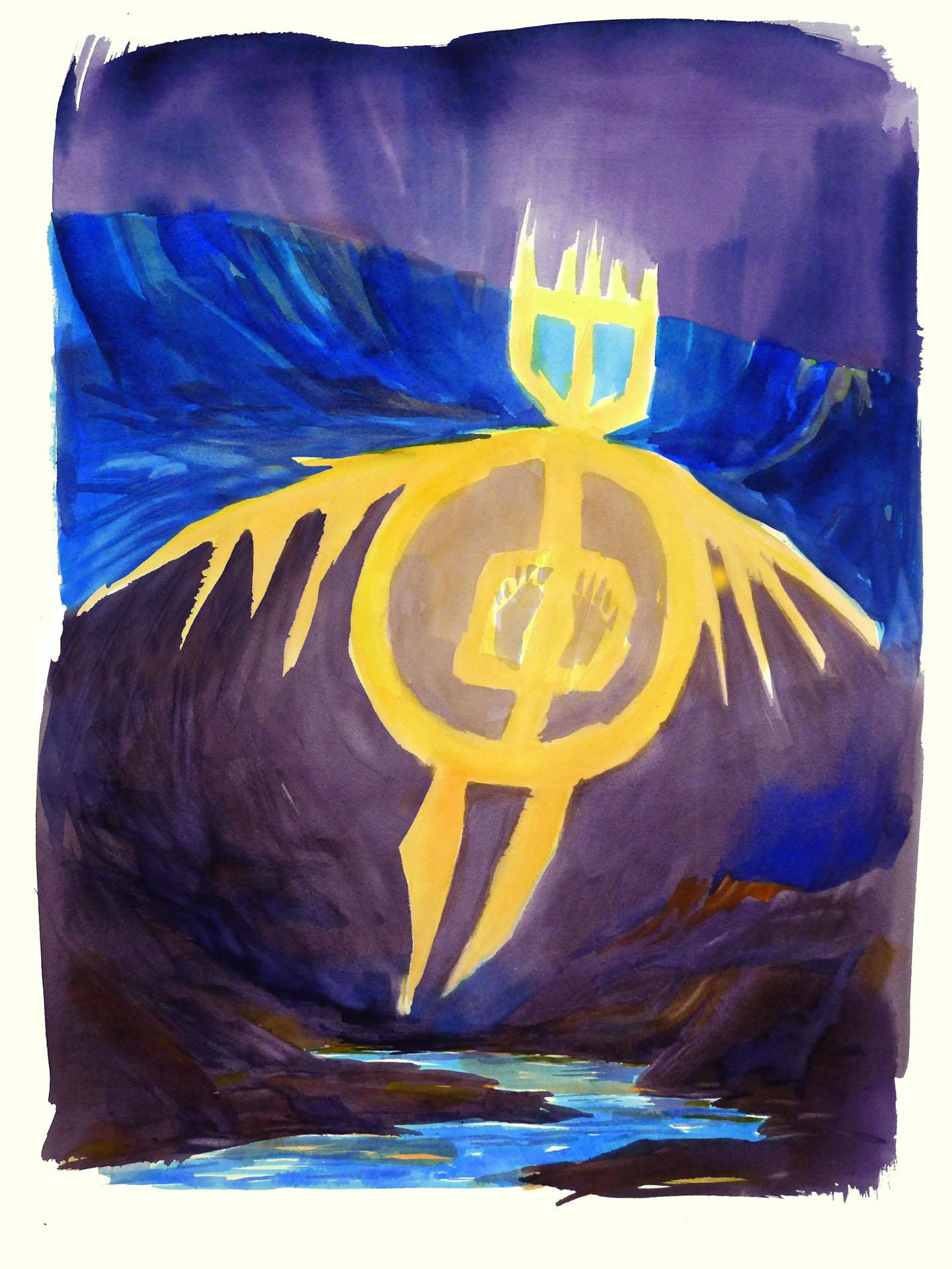 """""""River Spirit"""" Watercolor 30x22"""""""