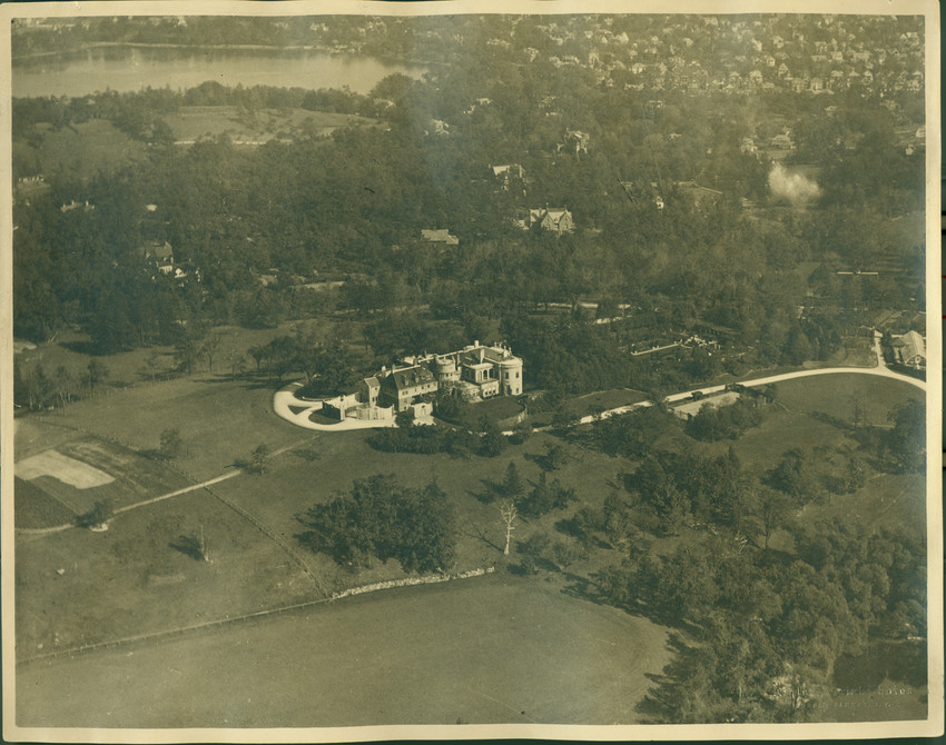 An undated aerial of the estate.