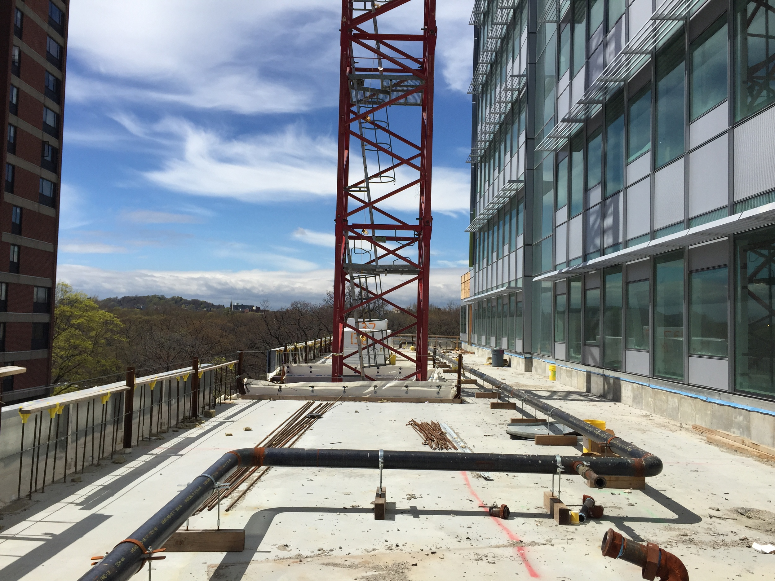 Brigham Building for the Future roof deck