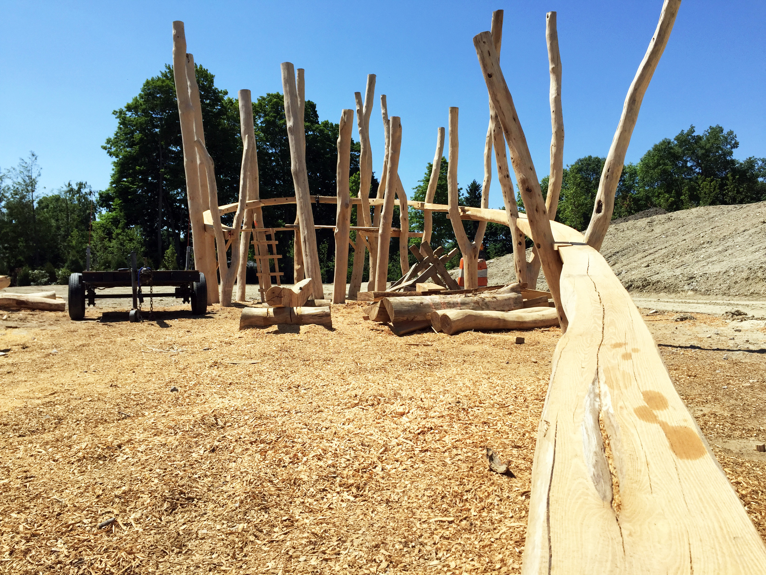 Mitch Ryerson's play structure before the balustrade is installed.