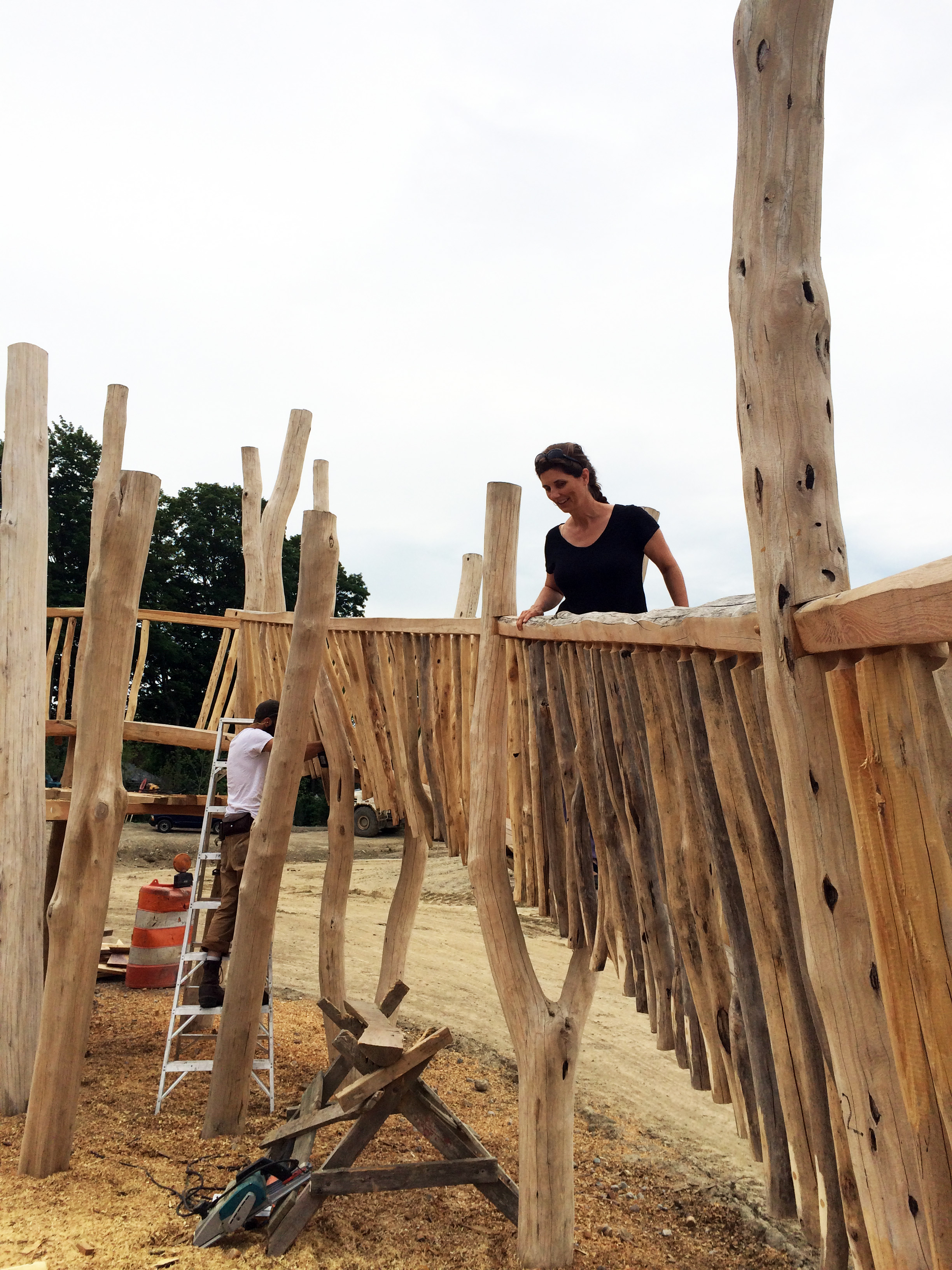 Mitch Ryerson's play structure after the balustrade is installed.