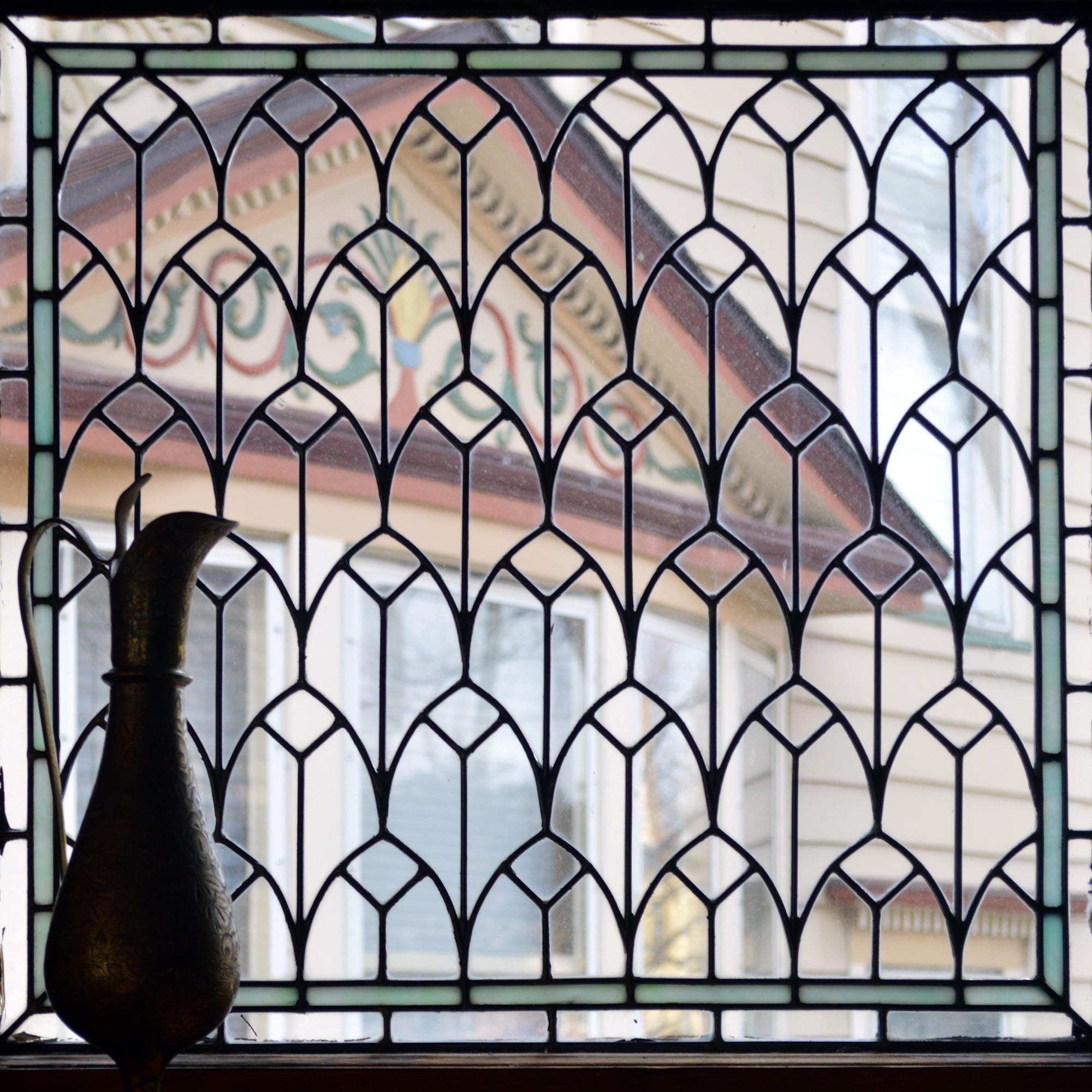 Art Glass in Frank Lloyd Wright's Dining Room