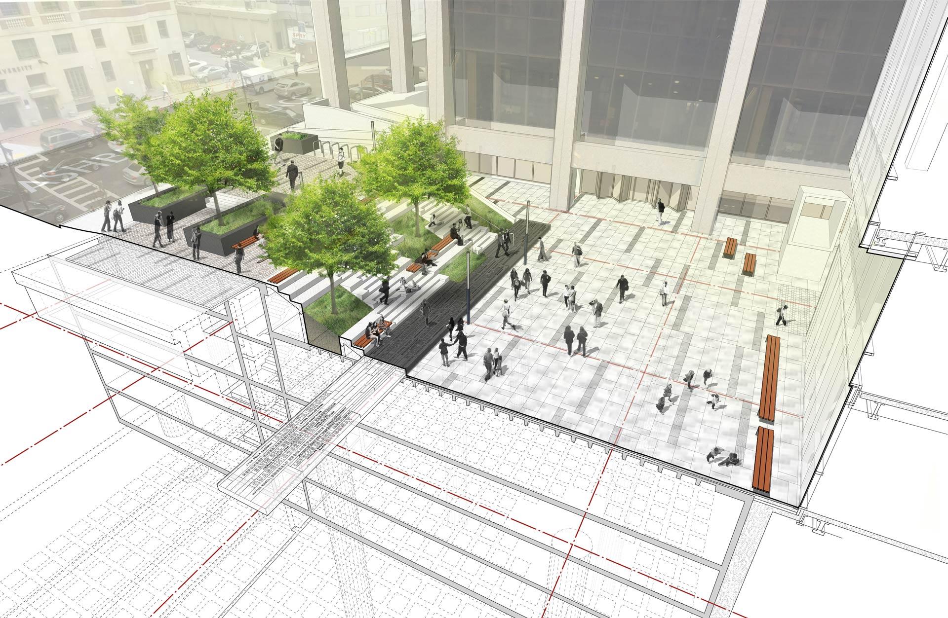 Roemer Plaza_Suffolk University_Landscape on structure diagram_Klopfer Martin.jpg