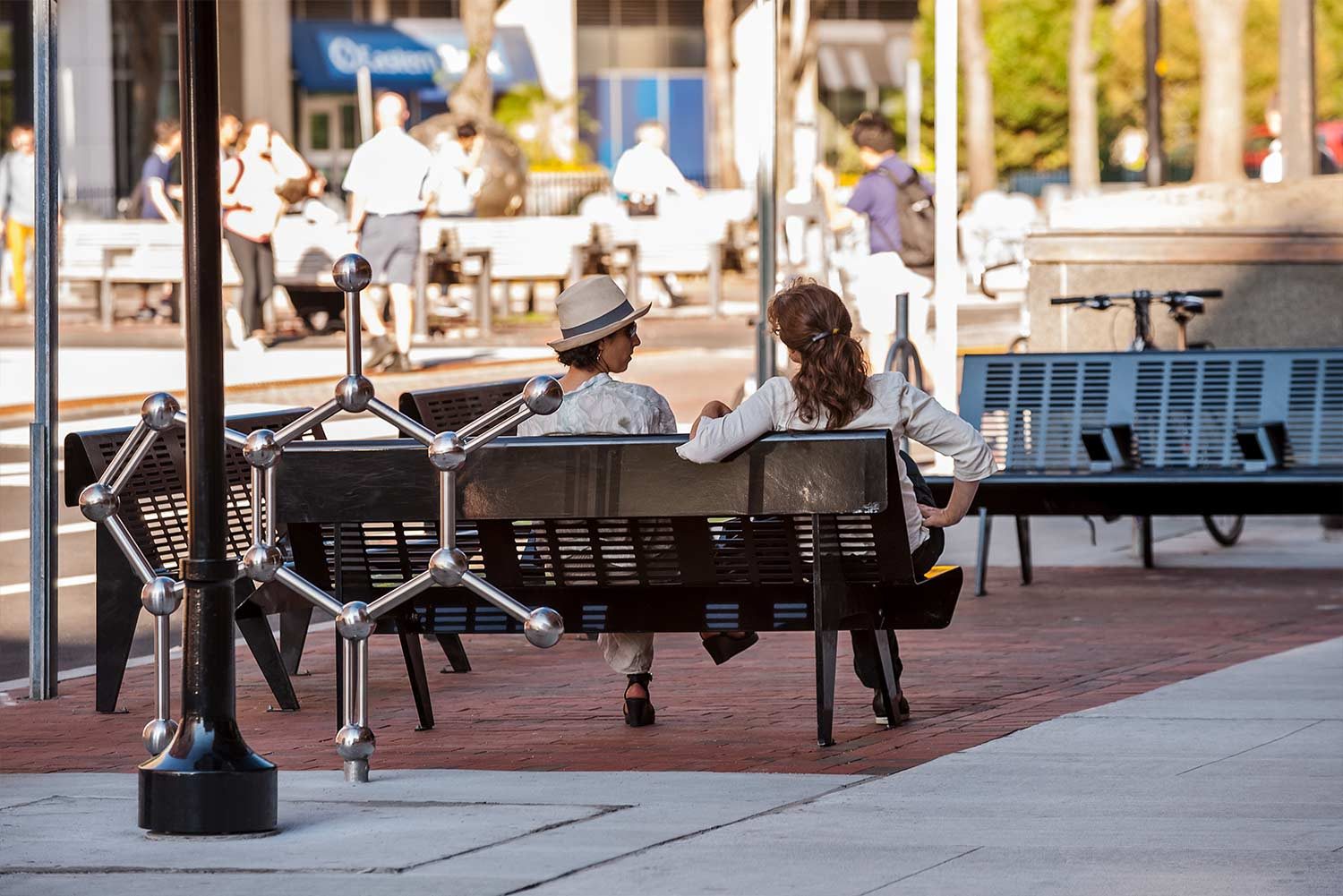 Kendall-Square_caffeine-molecule-bike-rack_streetscape-furniture-room_Klopfer-Martin.jpg