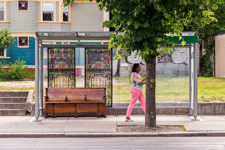Providence-R-Line_Rapid-Transit_bus-shelter-wood-bench-stained-glass_Klopfer-Martin.jpg