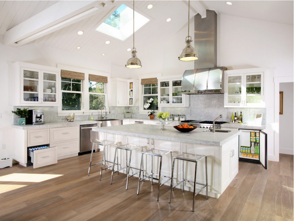 Transitional design combines elements of old and new.