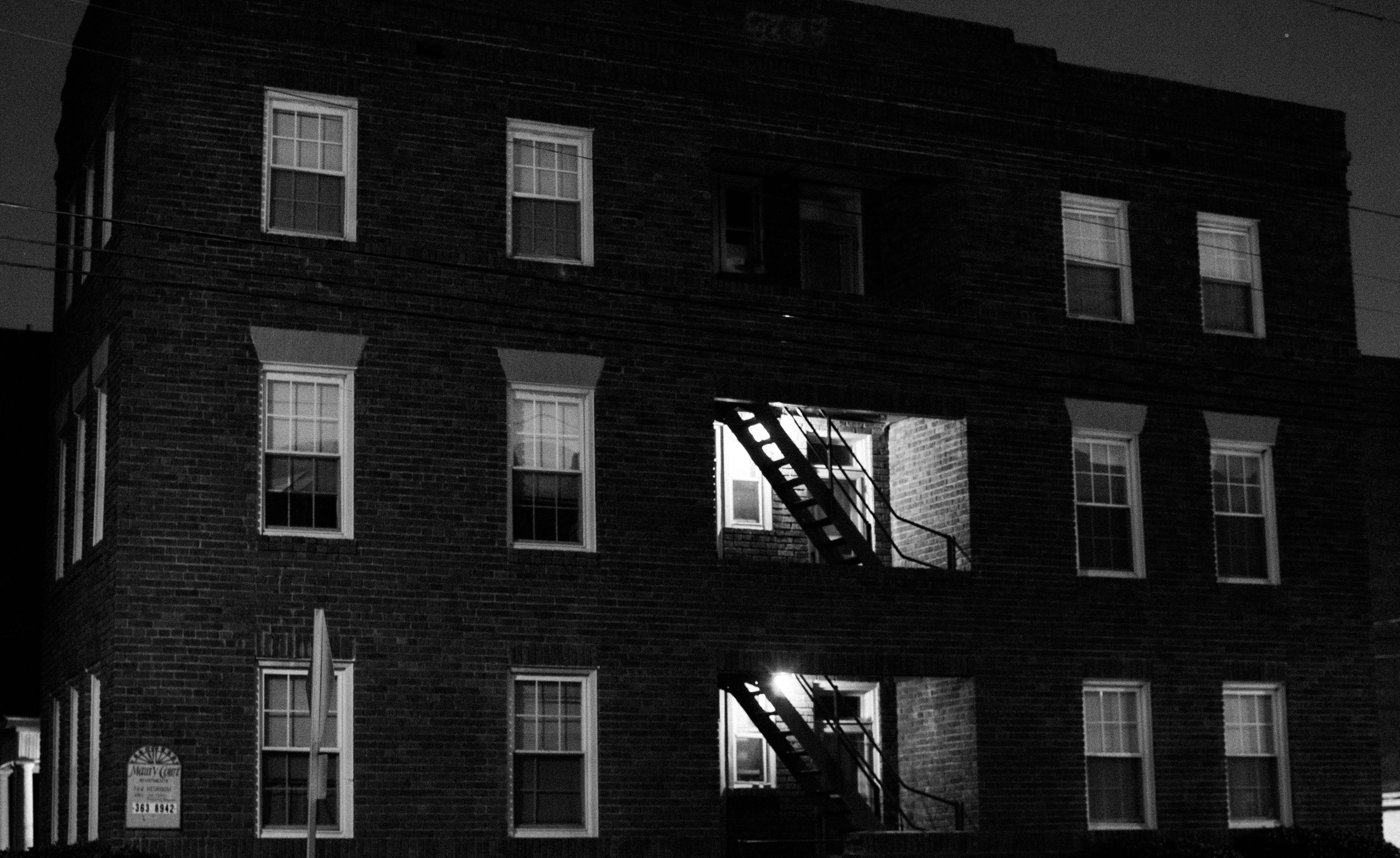 11/29/27. An Apartment On Colley. Ilford Pan F