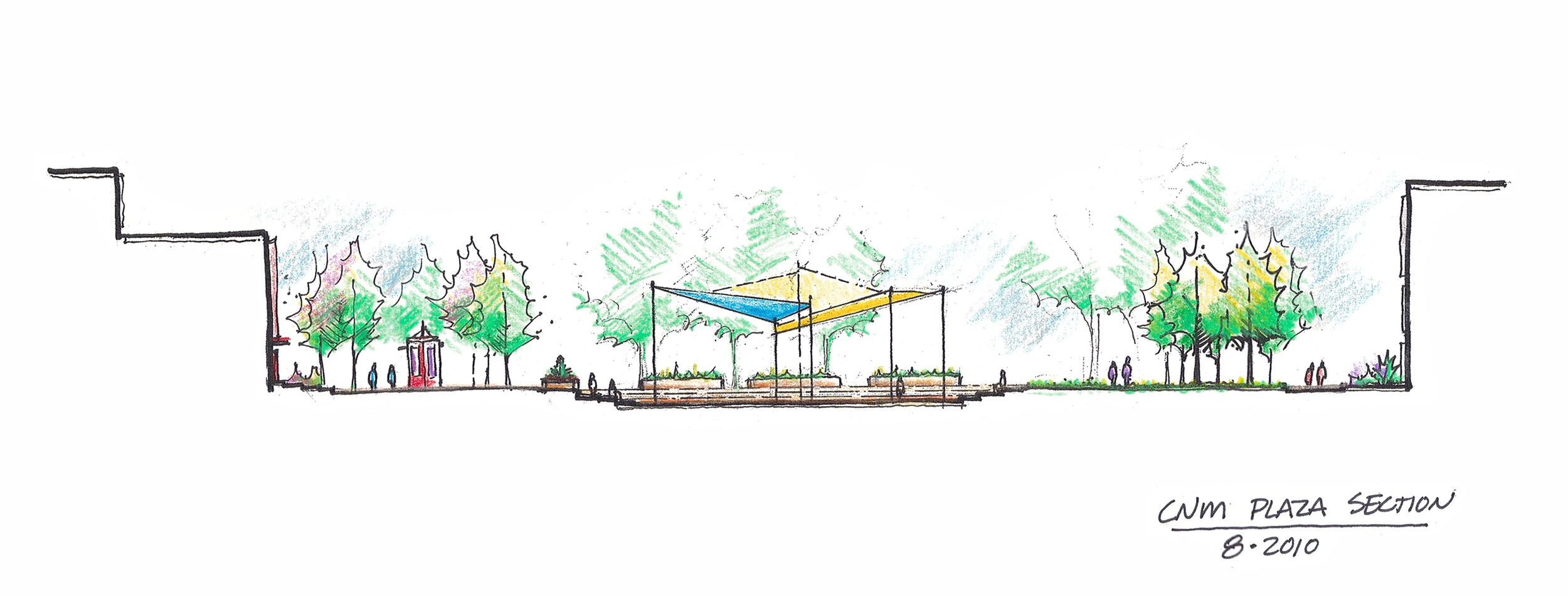 Sketch for shade structure