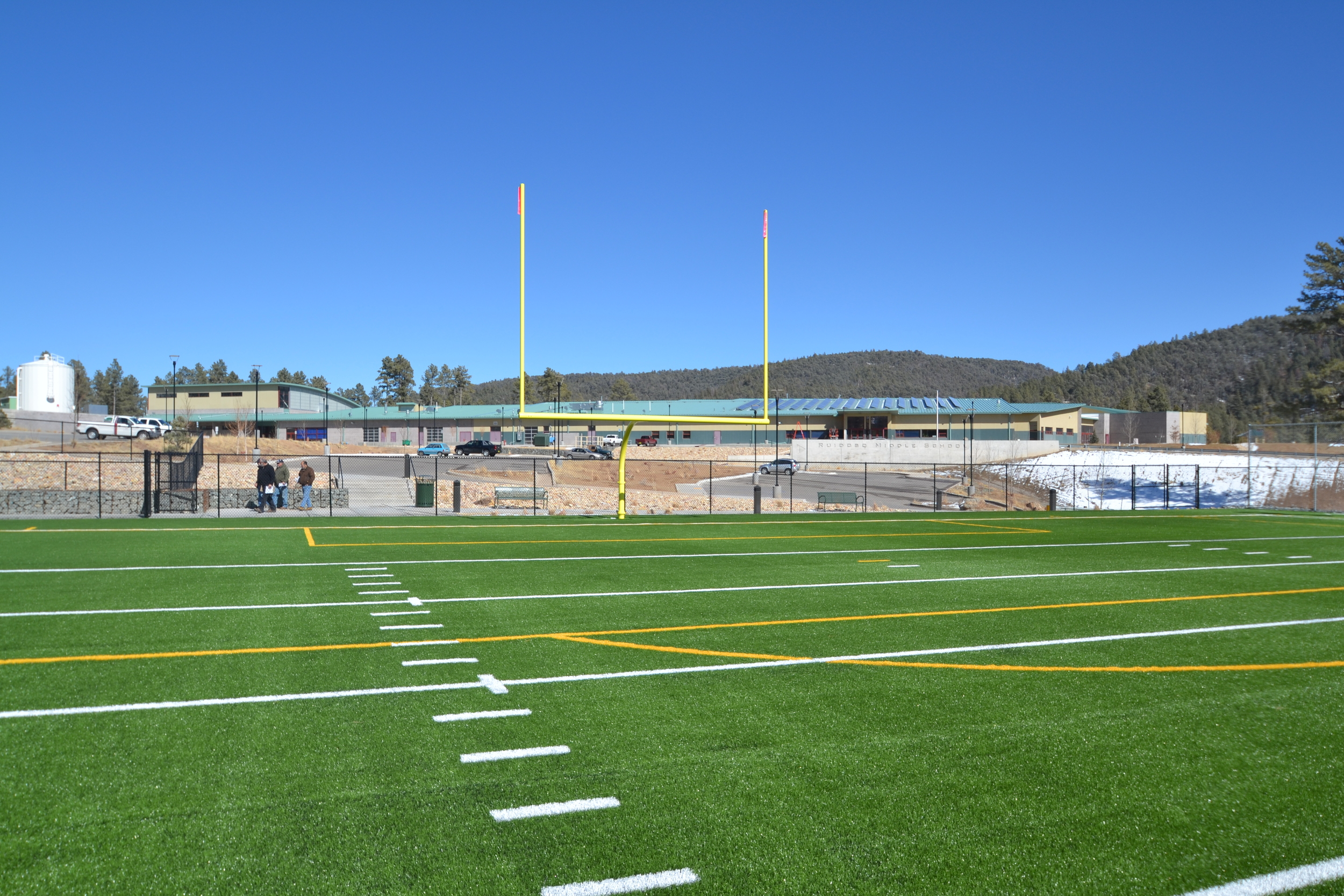 Artificial turf athletic field