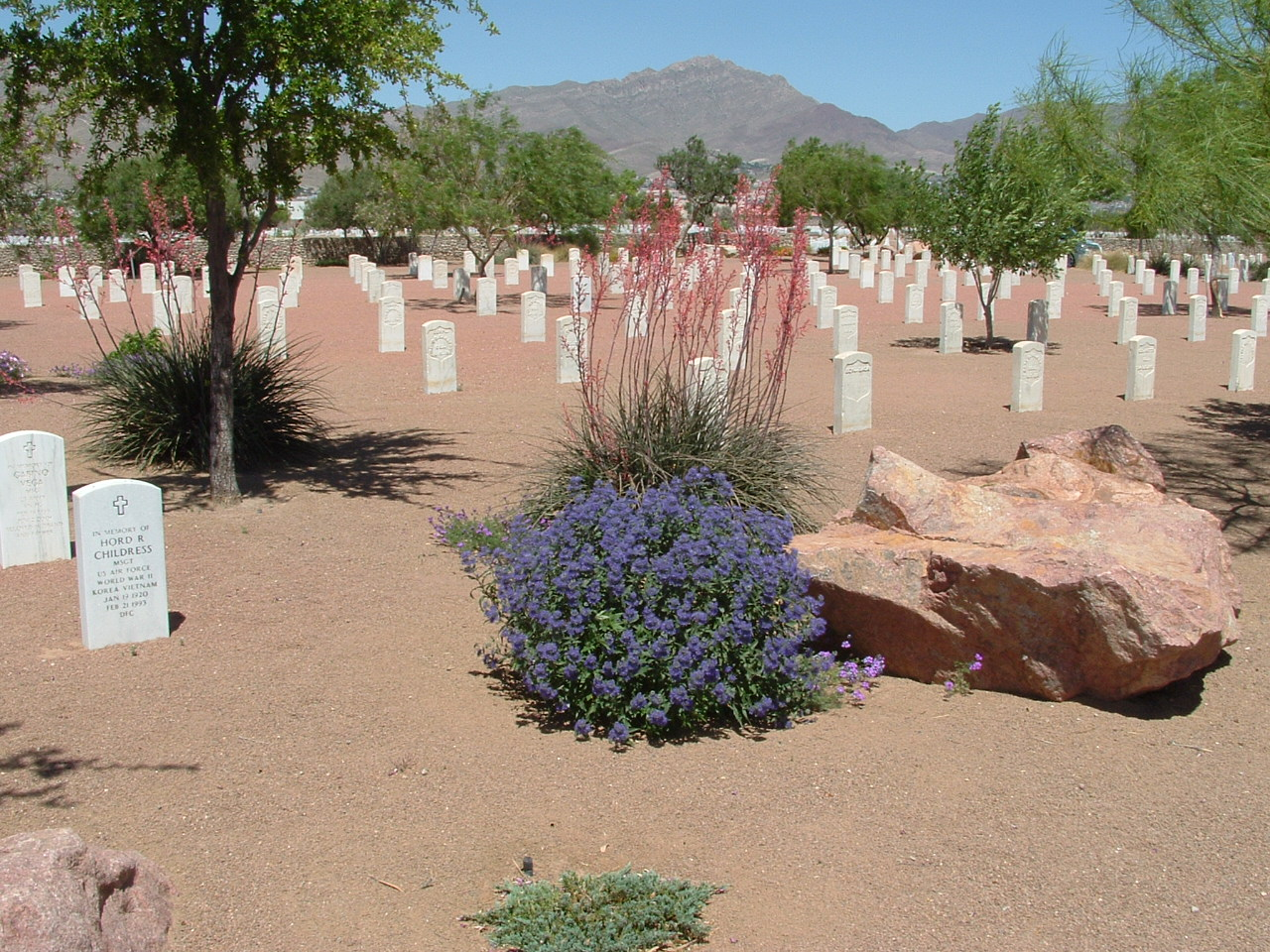 Fort Bliss National Cemetery - Xeric design