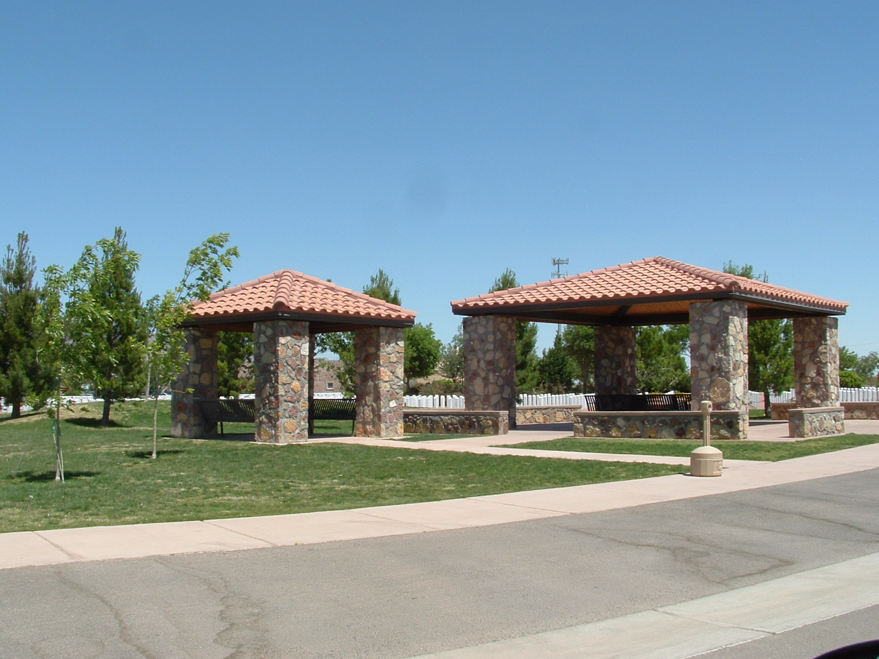 Fort Bliss National Cemetery pavilions