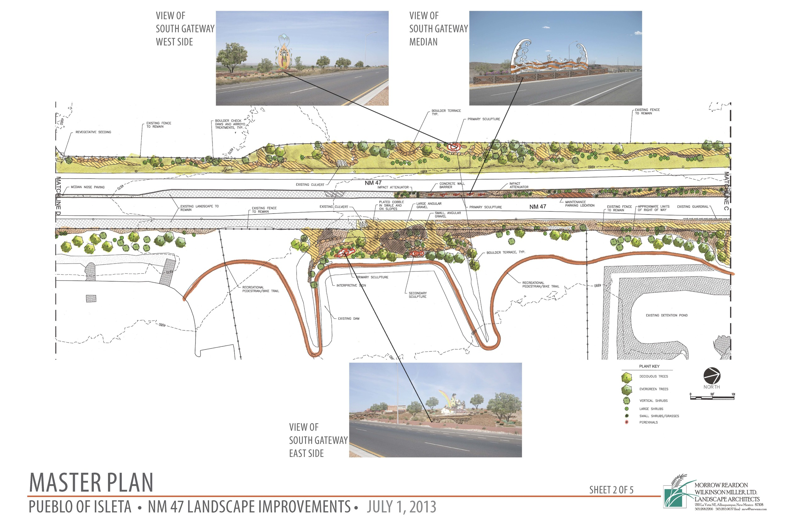 Master plan pueblo of isleta highway streetscape improvements