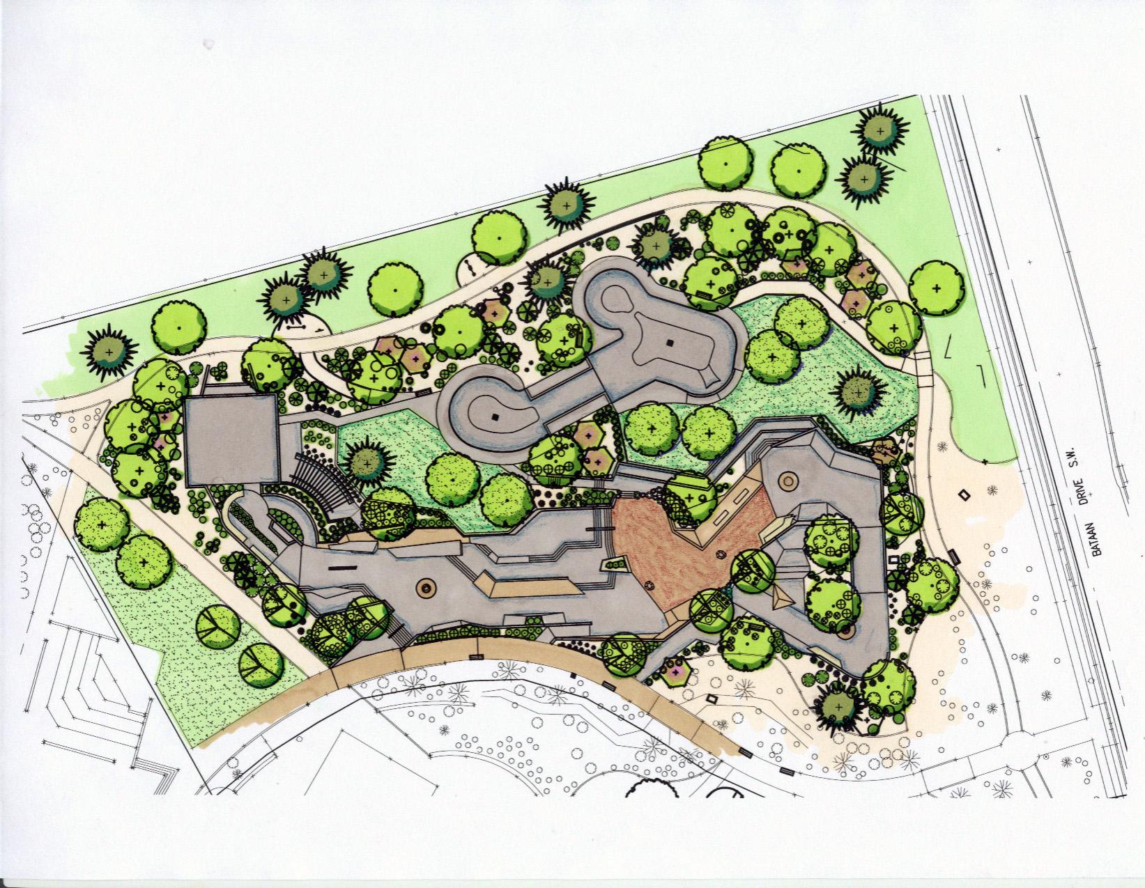 Site Plan for Alamosa Skatepark, Albuquerque, NM