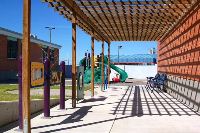Shade structure and play area
