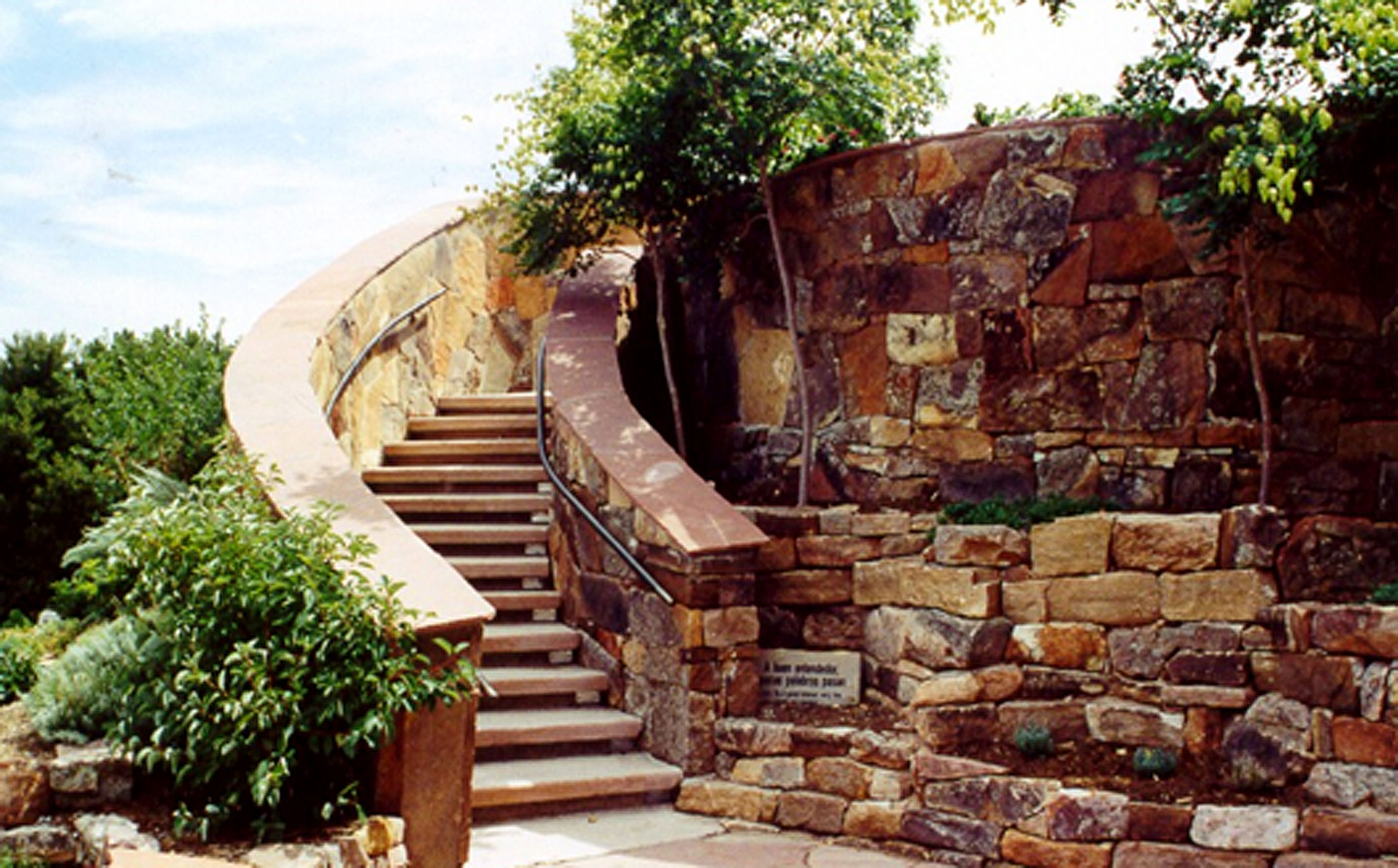 Patients will graduate to the beautiful stone-sided staircase