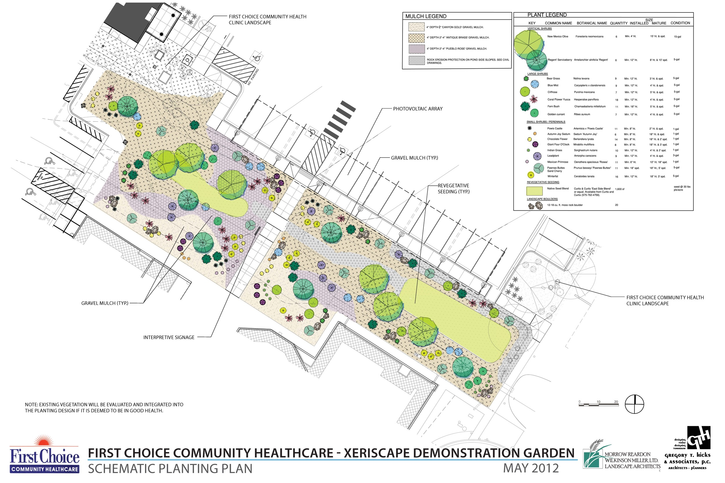 Xeriscape demonstration garden at healthcare center