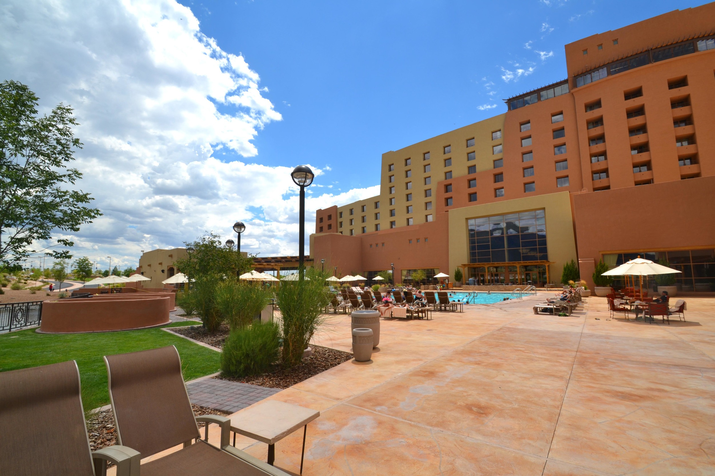 Pool and patio area at Sandia Resort and Casino