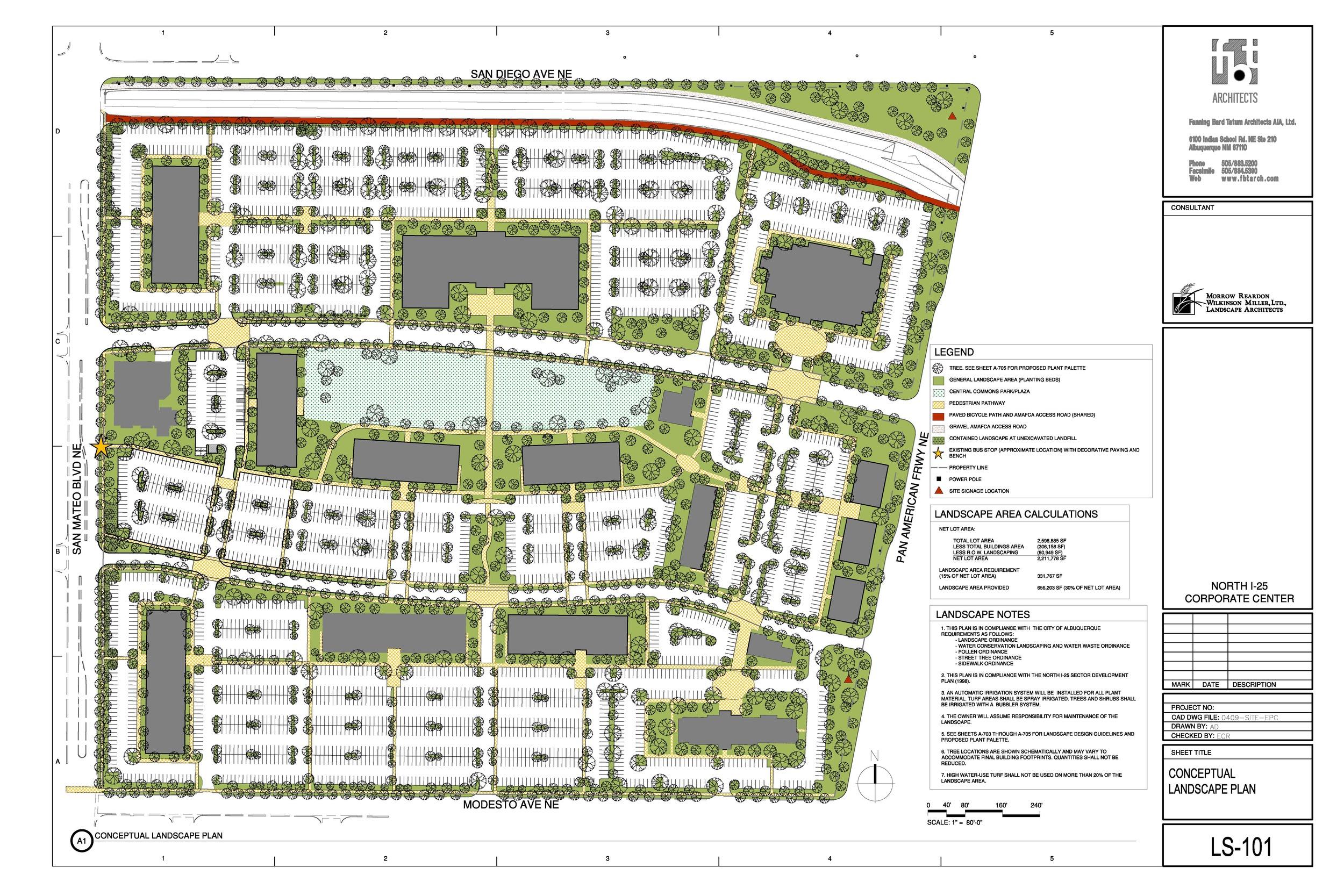 Conceptual landscape plan