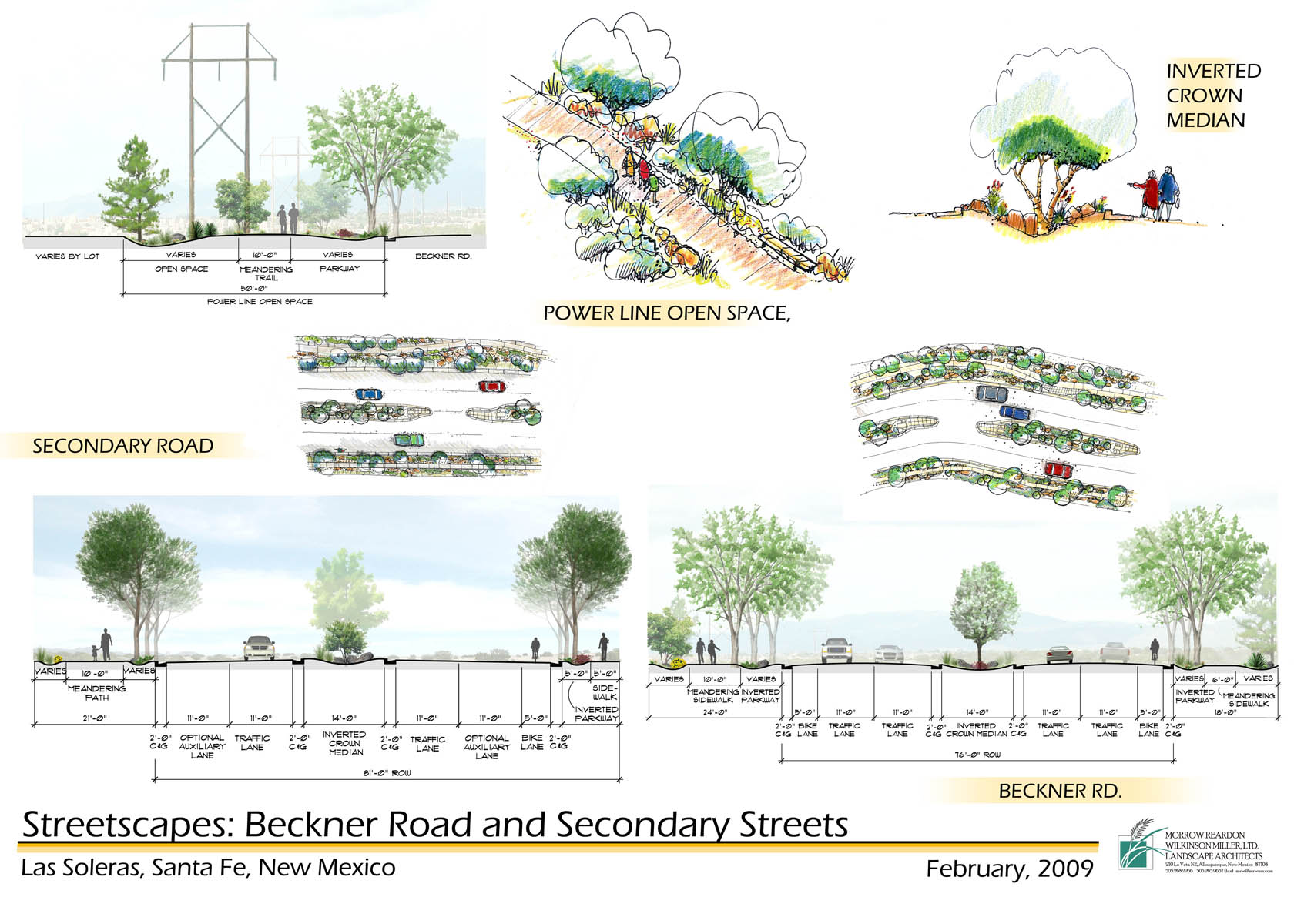 Design concepts for roadways in Las Soleras